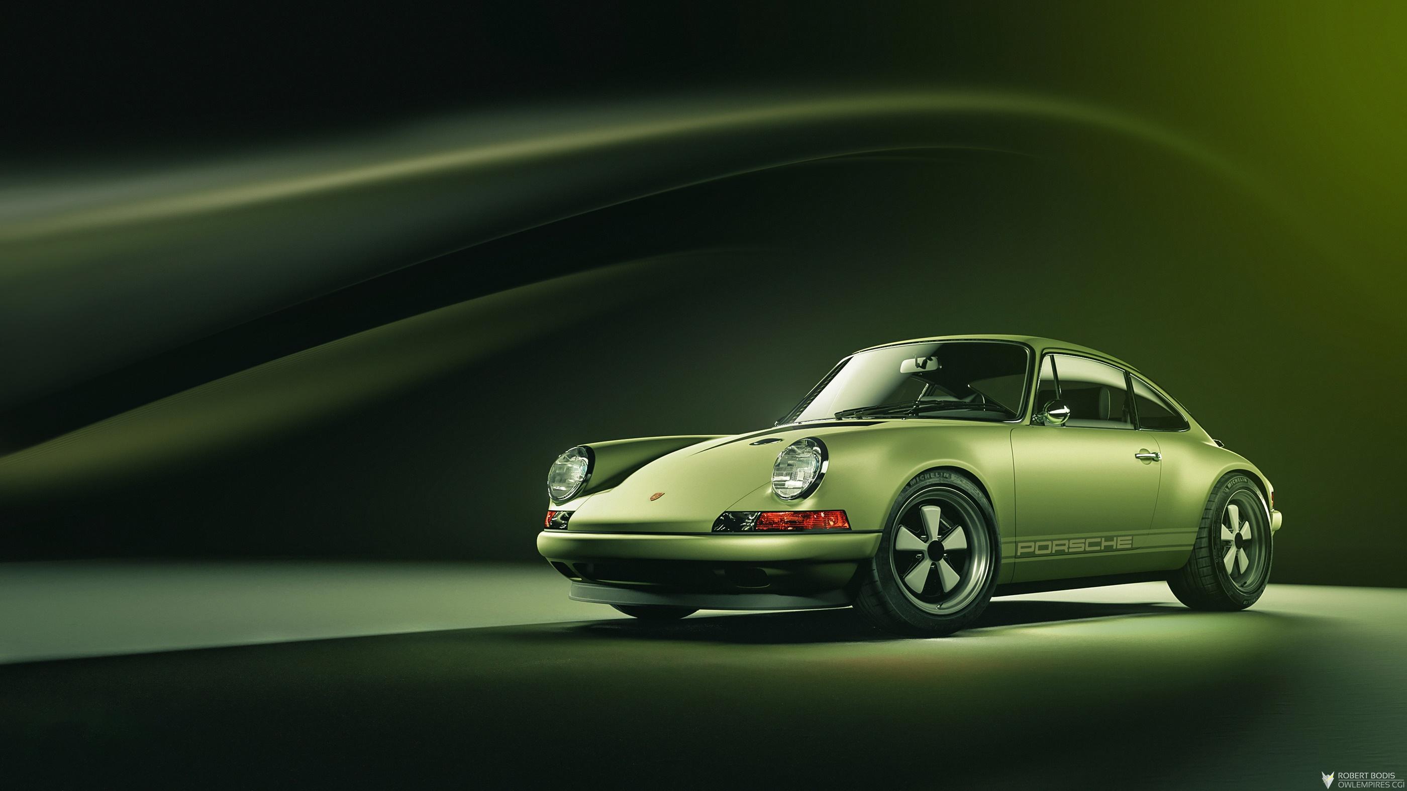 Wallpaper Green Cars Vehicle Porsche 911 Car 2800x1575