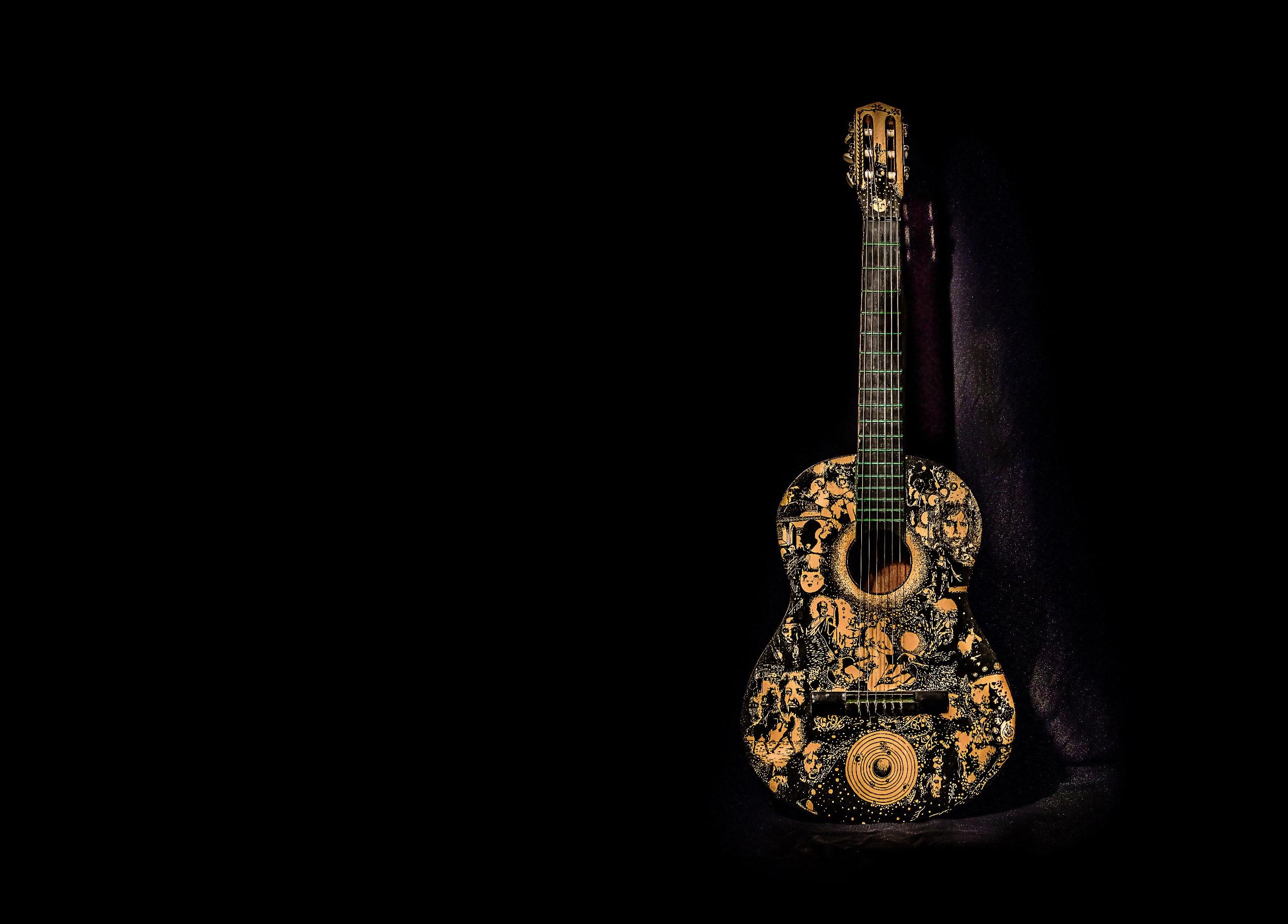 Wallpaper Guitar Simple Background Musical Instrument 2560x1838 Wallpapermaniac 1762353 Hd Wallpapers Wallhere