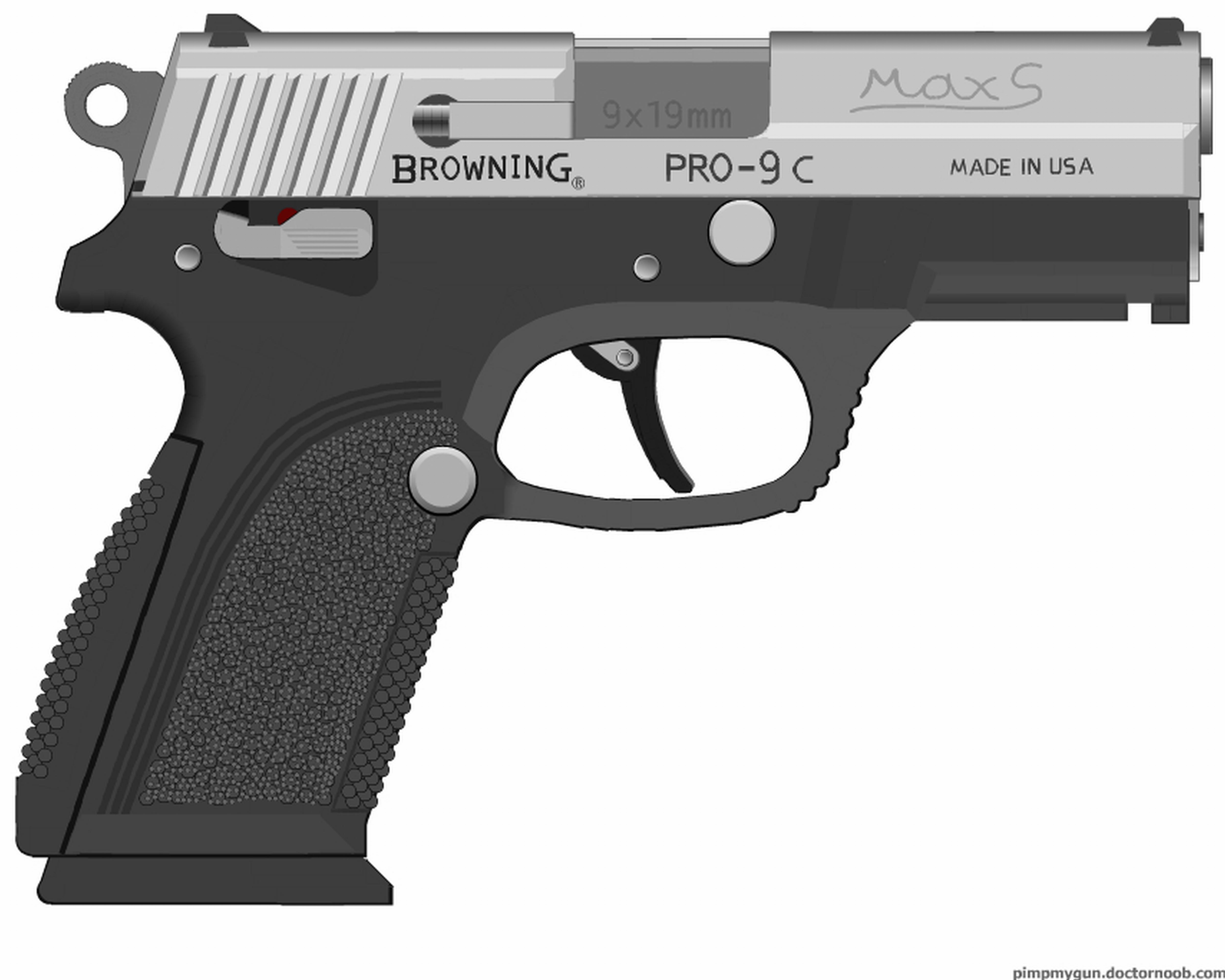 Gun 9 Pistol Pro MM Pimp Fn Browning Pmg Herstal Fnp
