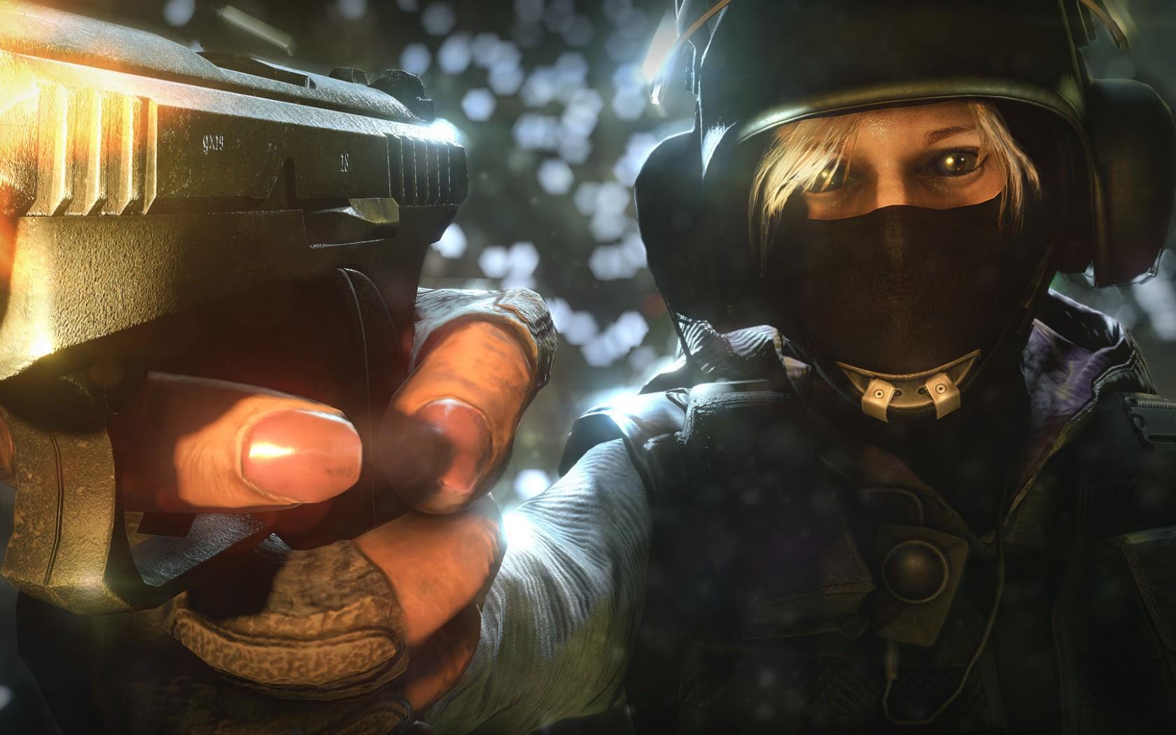 Wallpaper Gun Rainbow Six Mask Soldier Siege Darkness Iq