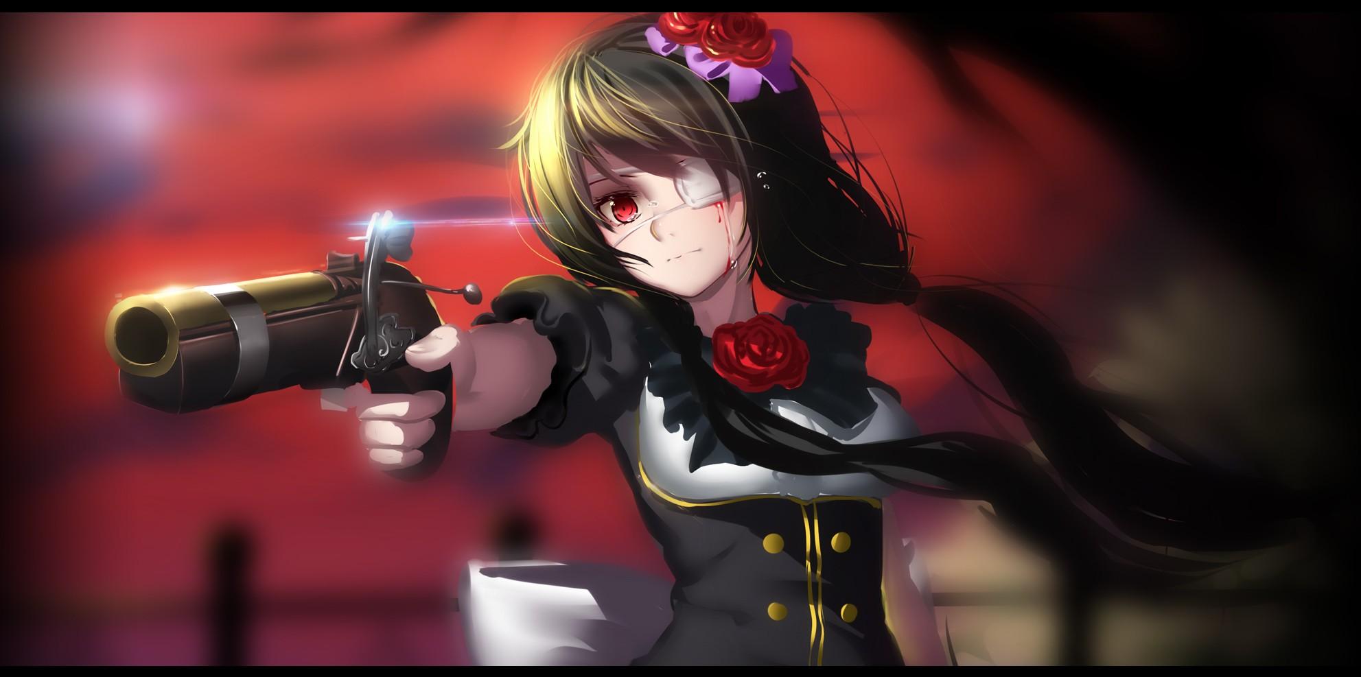 Fondos De Pantalla : Pistola, Anime, Chicas Anime, Fecha