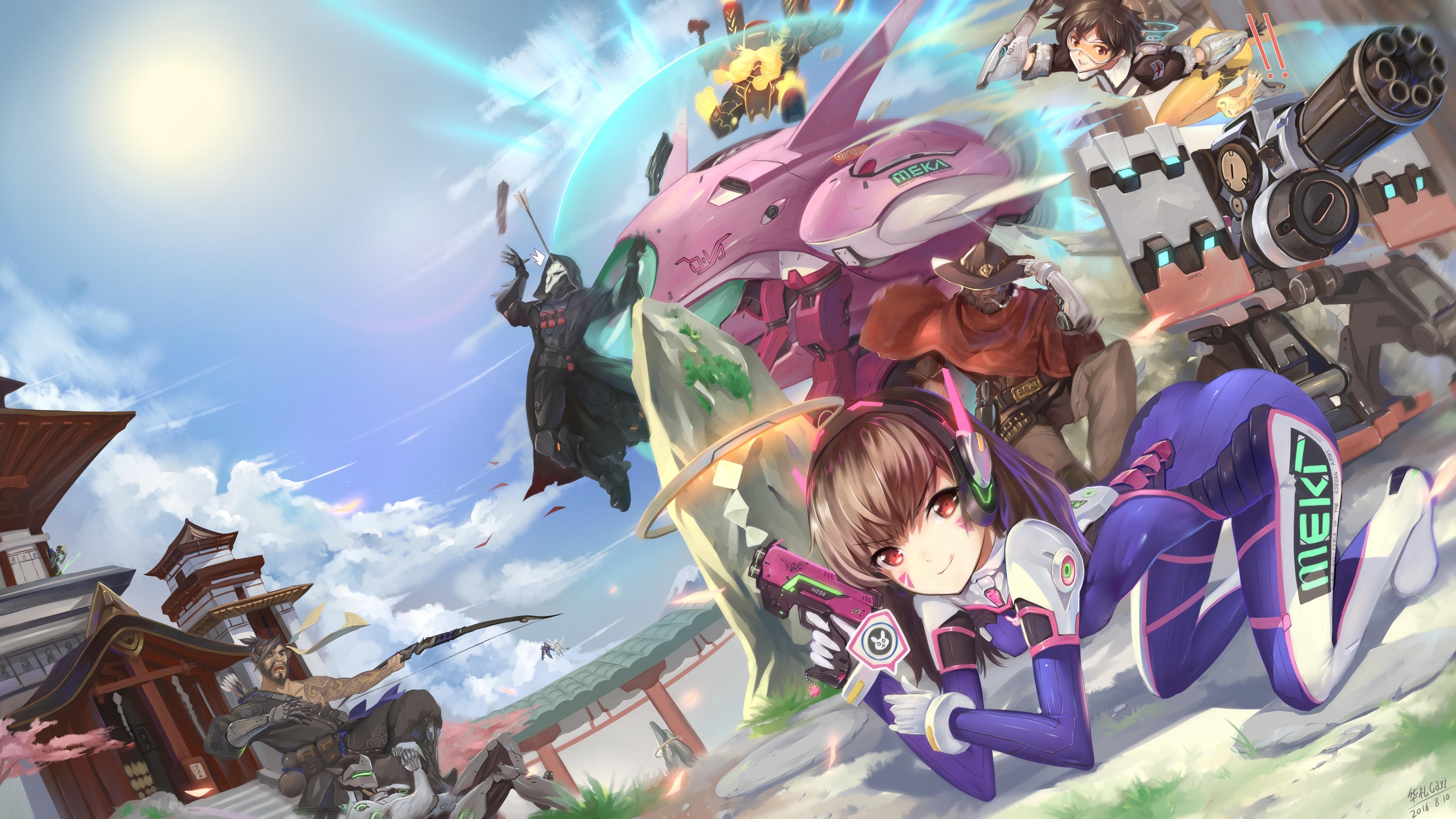 fond d'ecran anime overwatch
