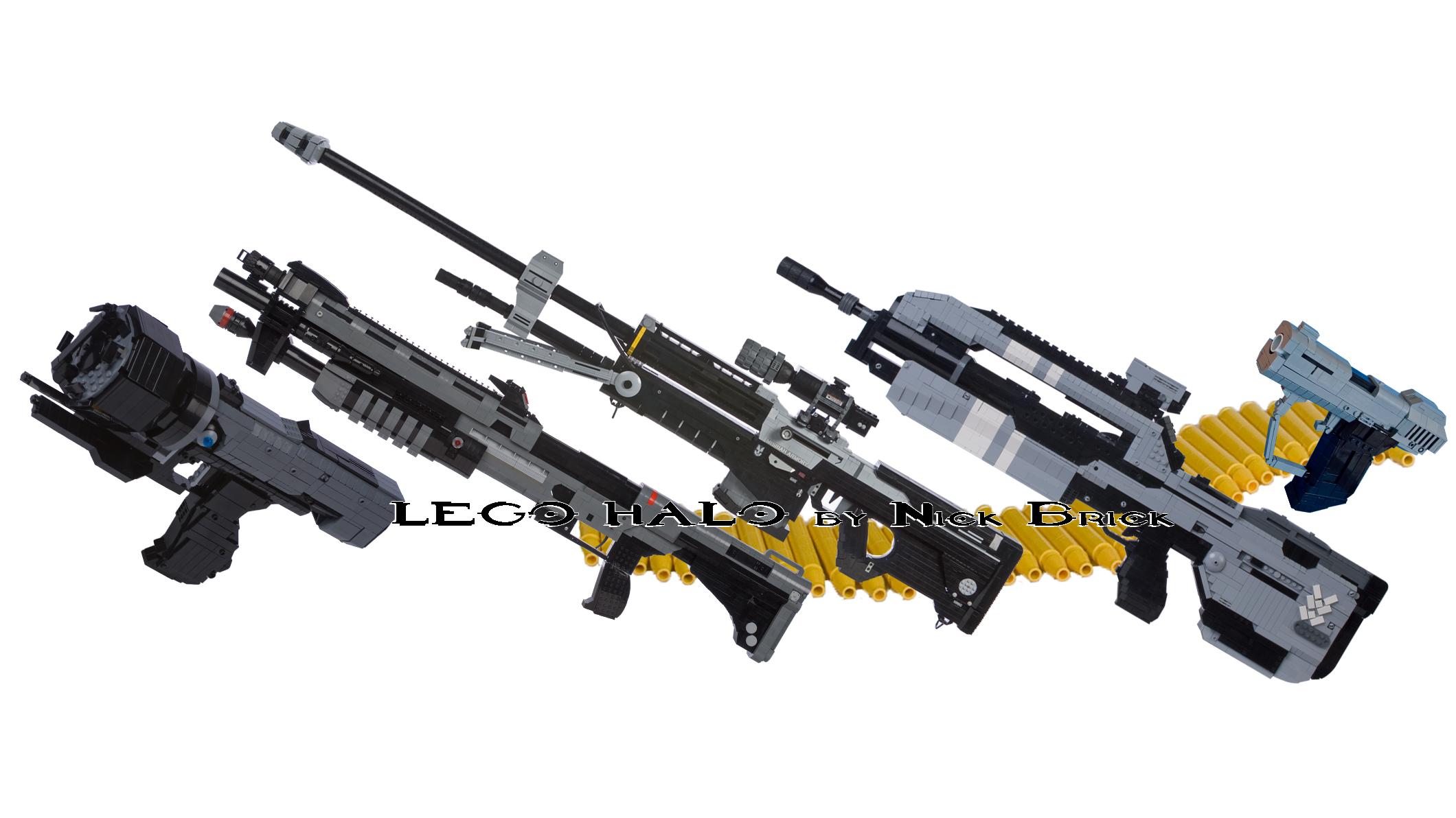 Gun Br LEGO Sticky Rifle Halo Battle Sniper Pistol Bullet Reach Shotgun Combat Magnum Evolved Detonator