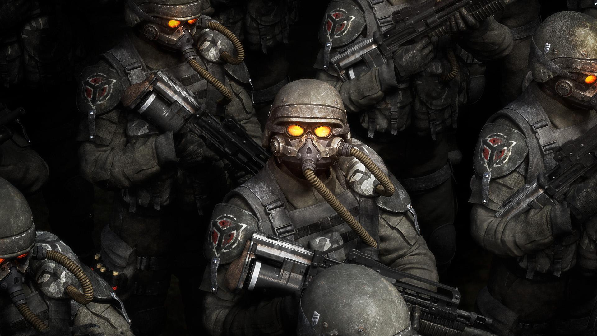 Wallpaper Gun Eyes Soldier Killzone Army Person