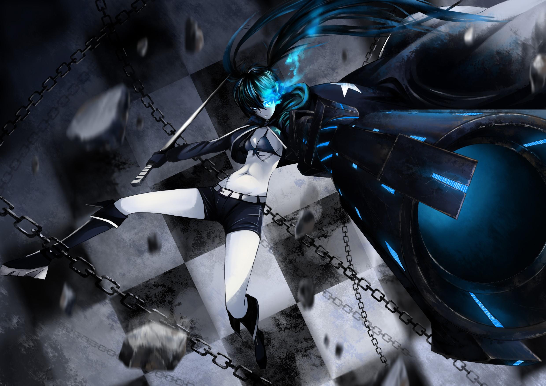 デスクトップ壁紙 銃 長い髪 アニメの女の子 車両 武器 青 剣