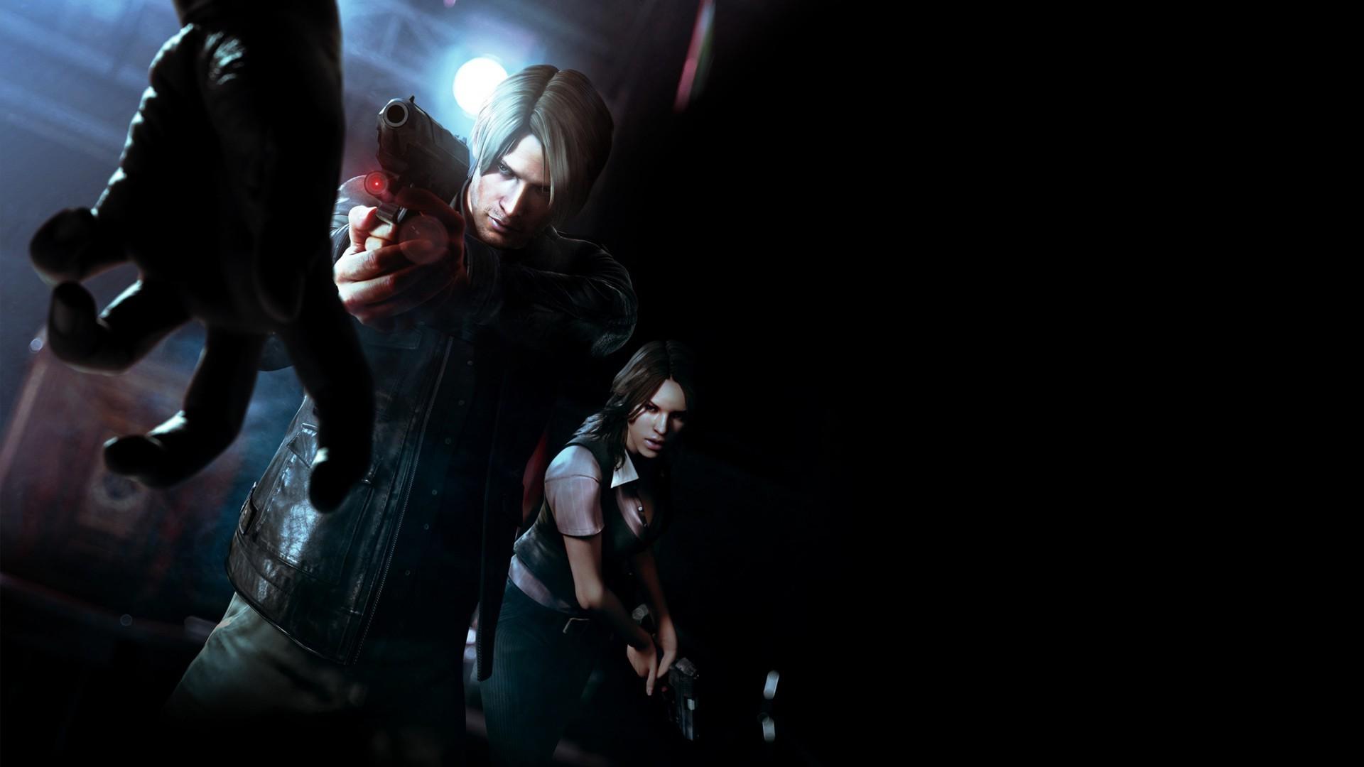Wallpaper Gun Video Games Black Background Resident
