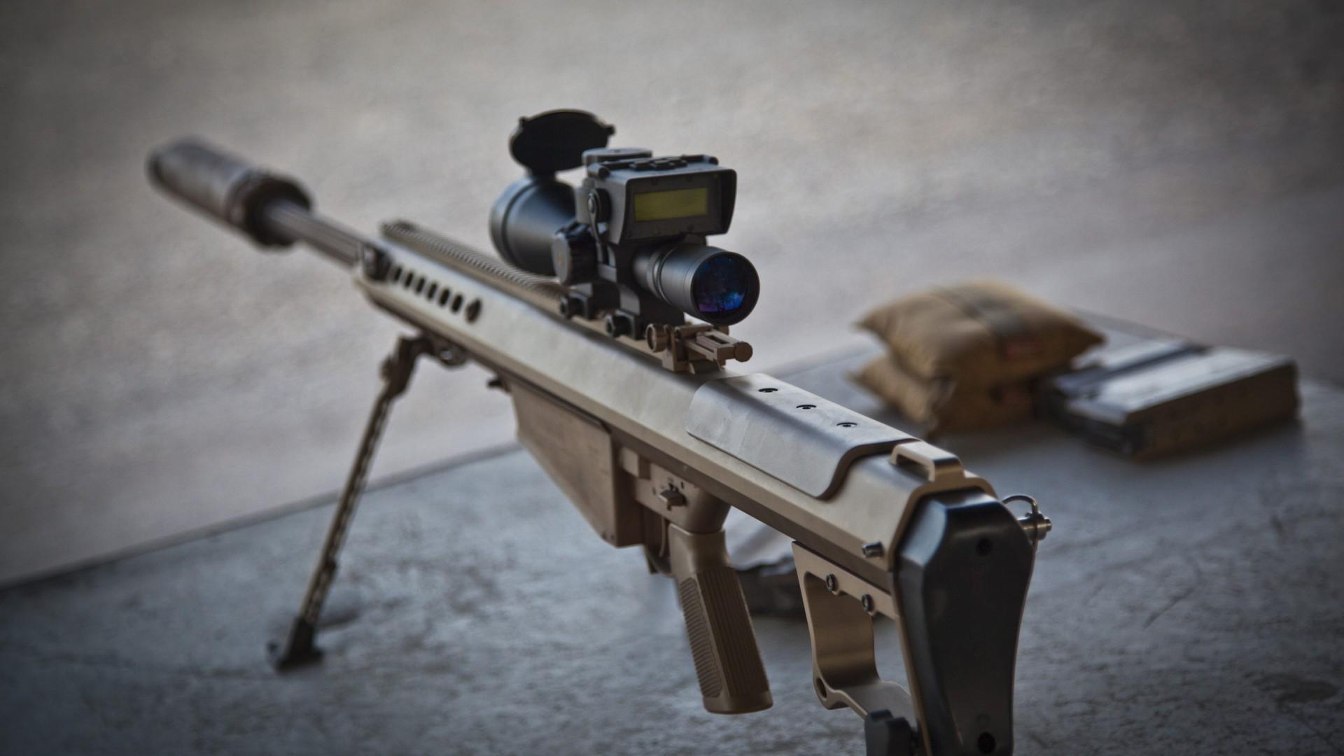 デスクトップ壁紙 武器 兵士 スナイパーライフル 機関銃 スコープ