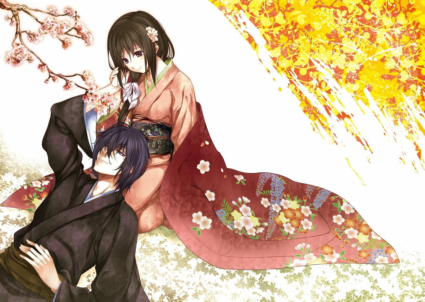 Guy Girl Tenderness Kimono Sakura