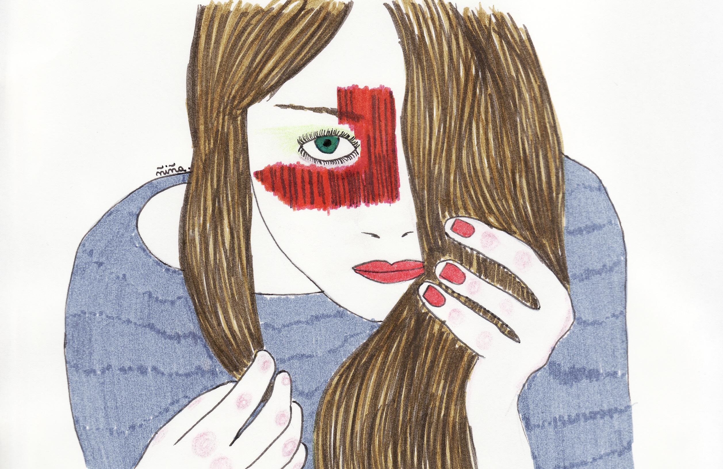 Masaüstü Yüz Ifadesi Insan Saçı Rengi Burun Saç Modeli Kız