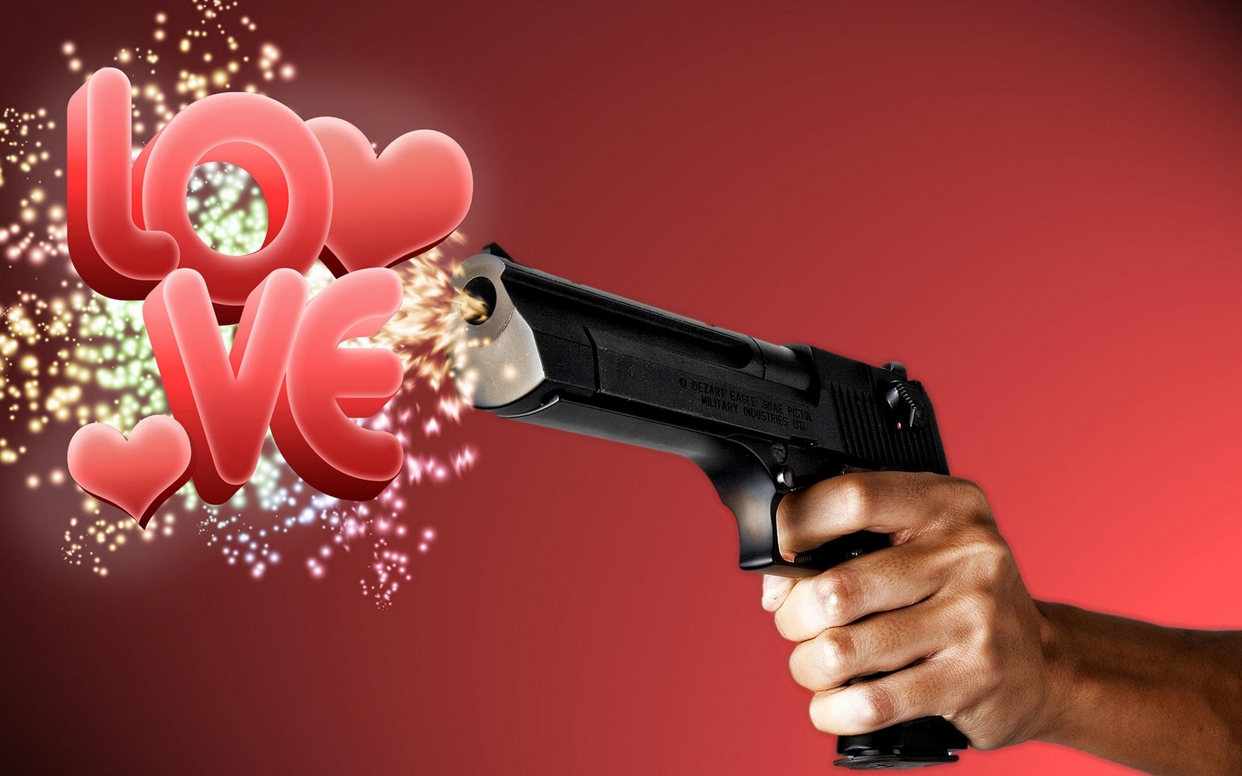 Картинки с пистолетом прикольные
