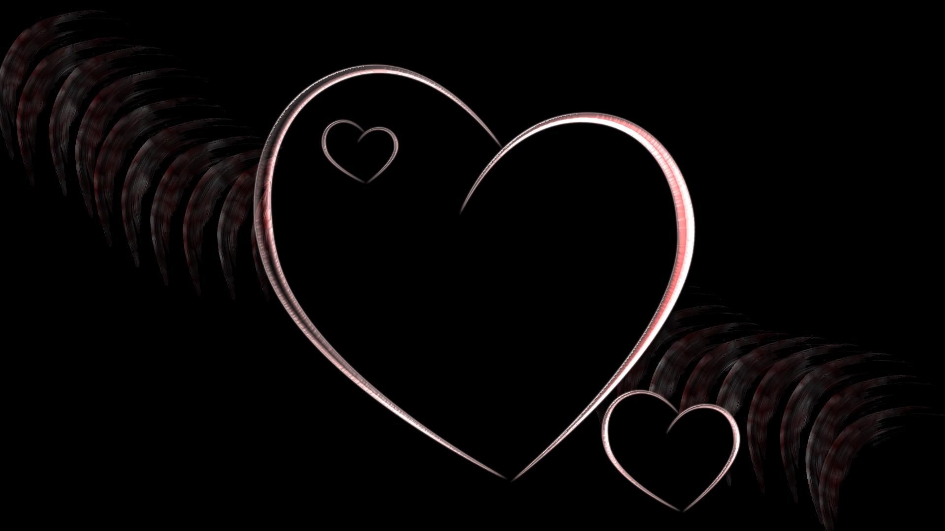 Картинка на черном фоне с надписью о любви