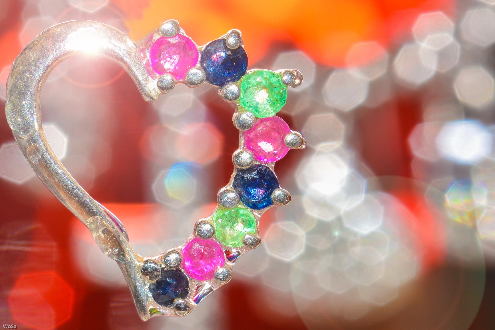 wallpaper heart crystal glitter monday flickr macromondays