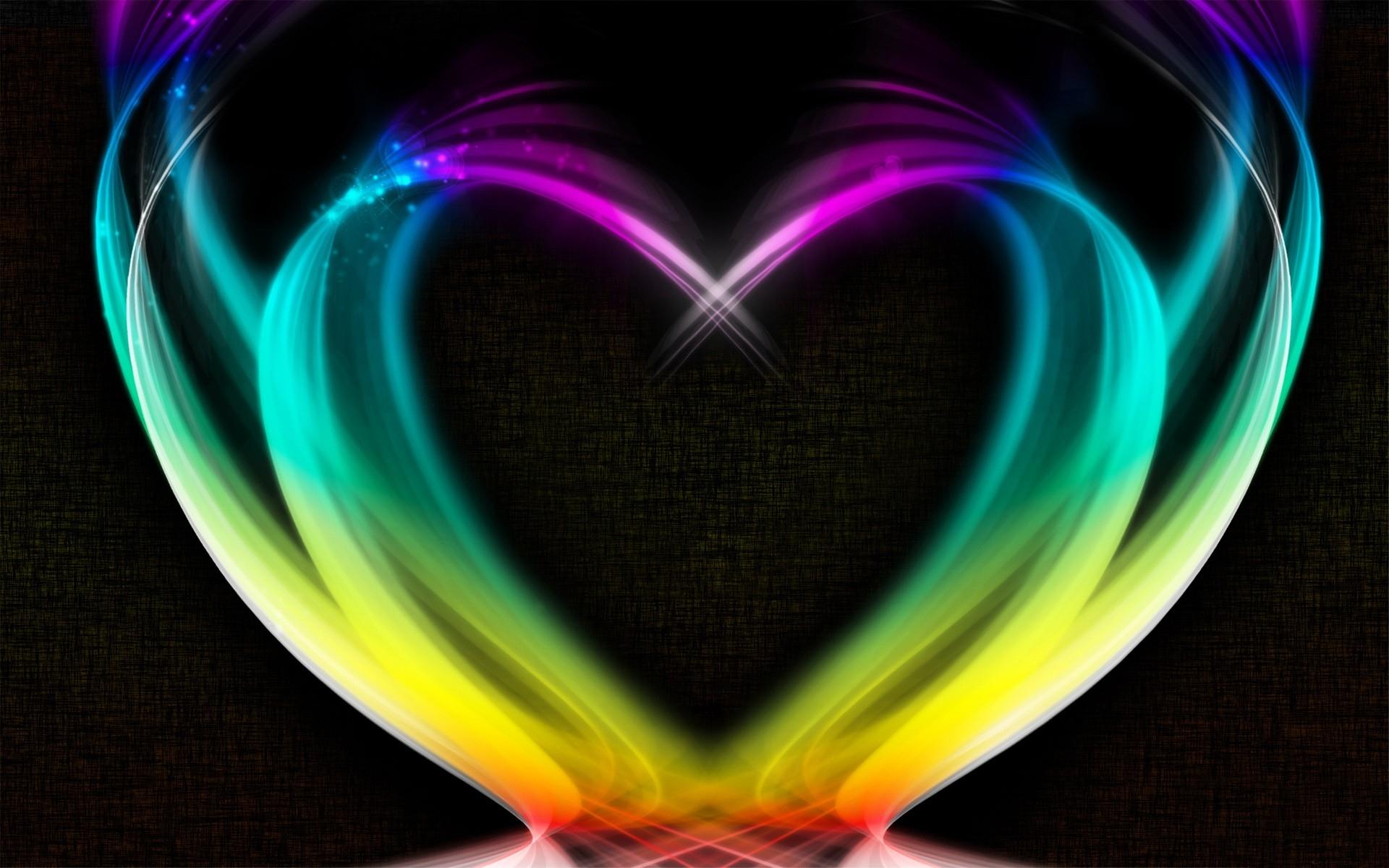 Heart Rainbow Smoke Colorful