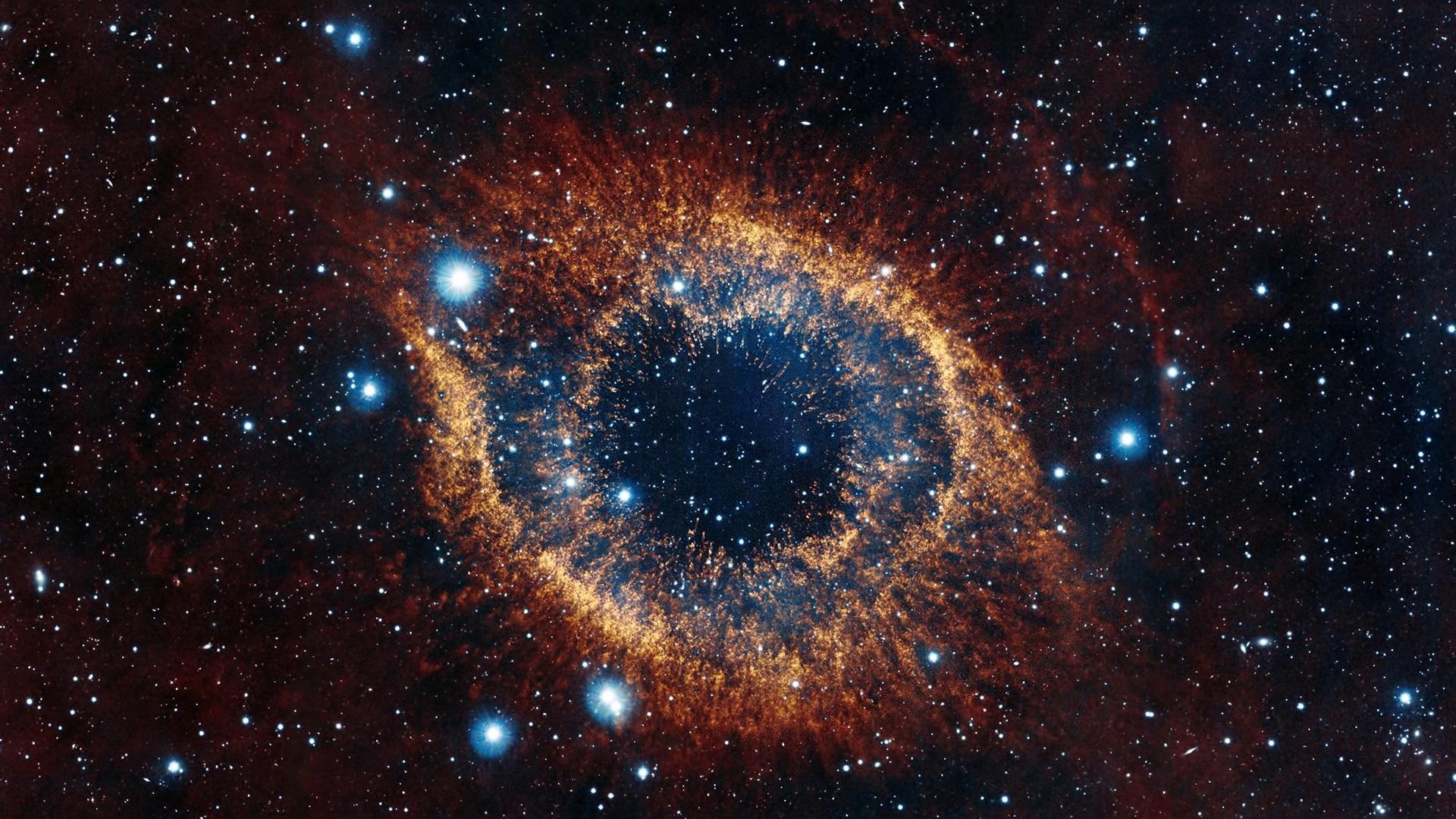 Wallpaper : helix nebula, space, stars, explosion ...