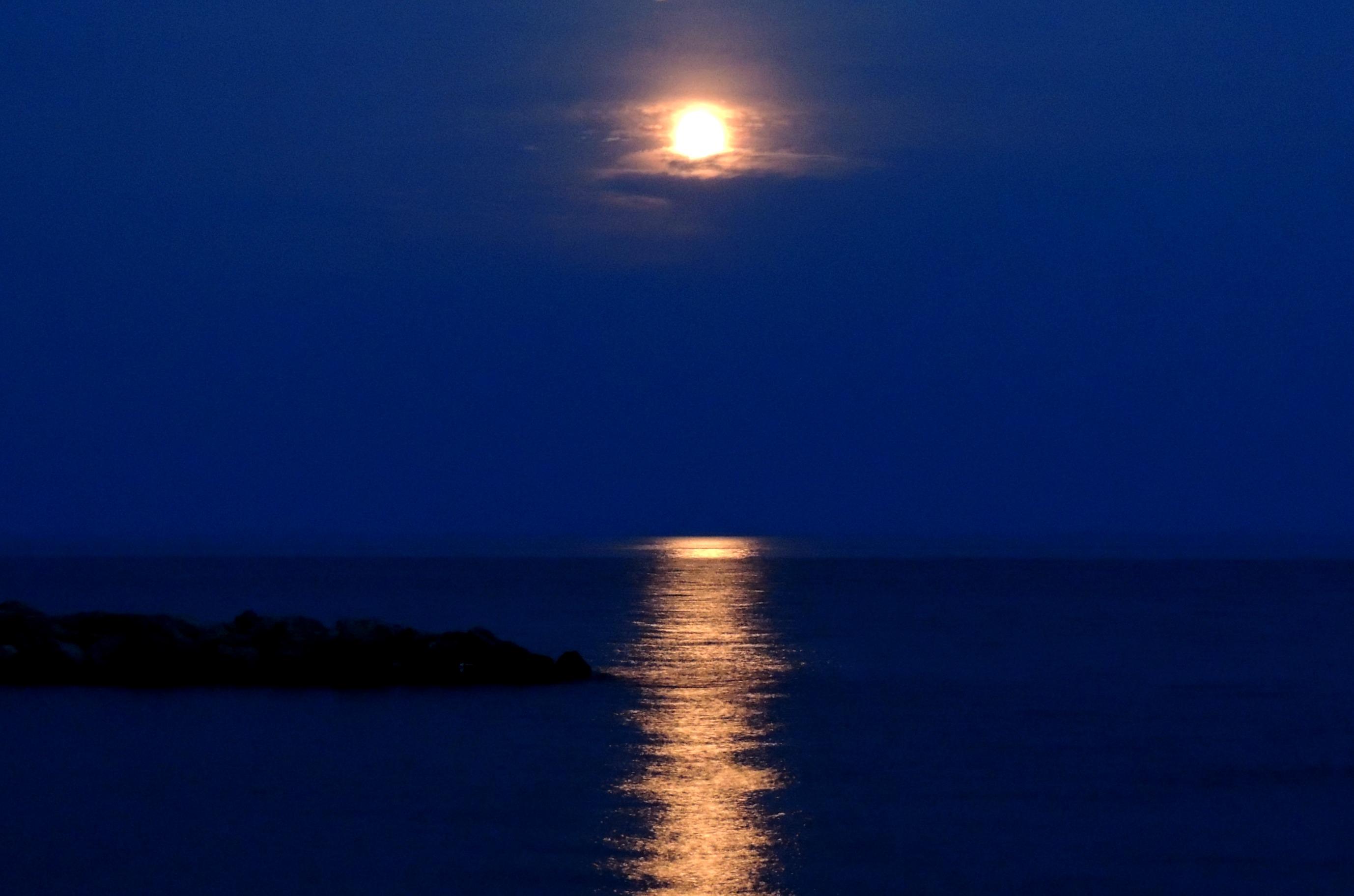 Papel De Parede Horizonte Luar Calma Mar Ceu Reflexao Dia