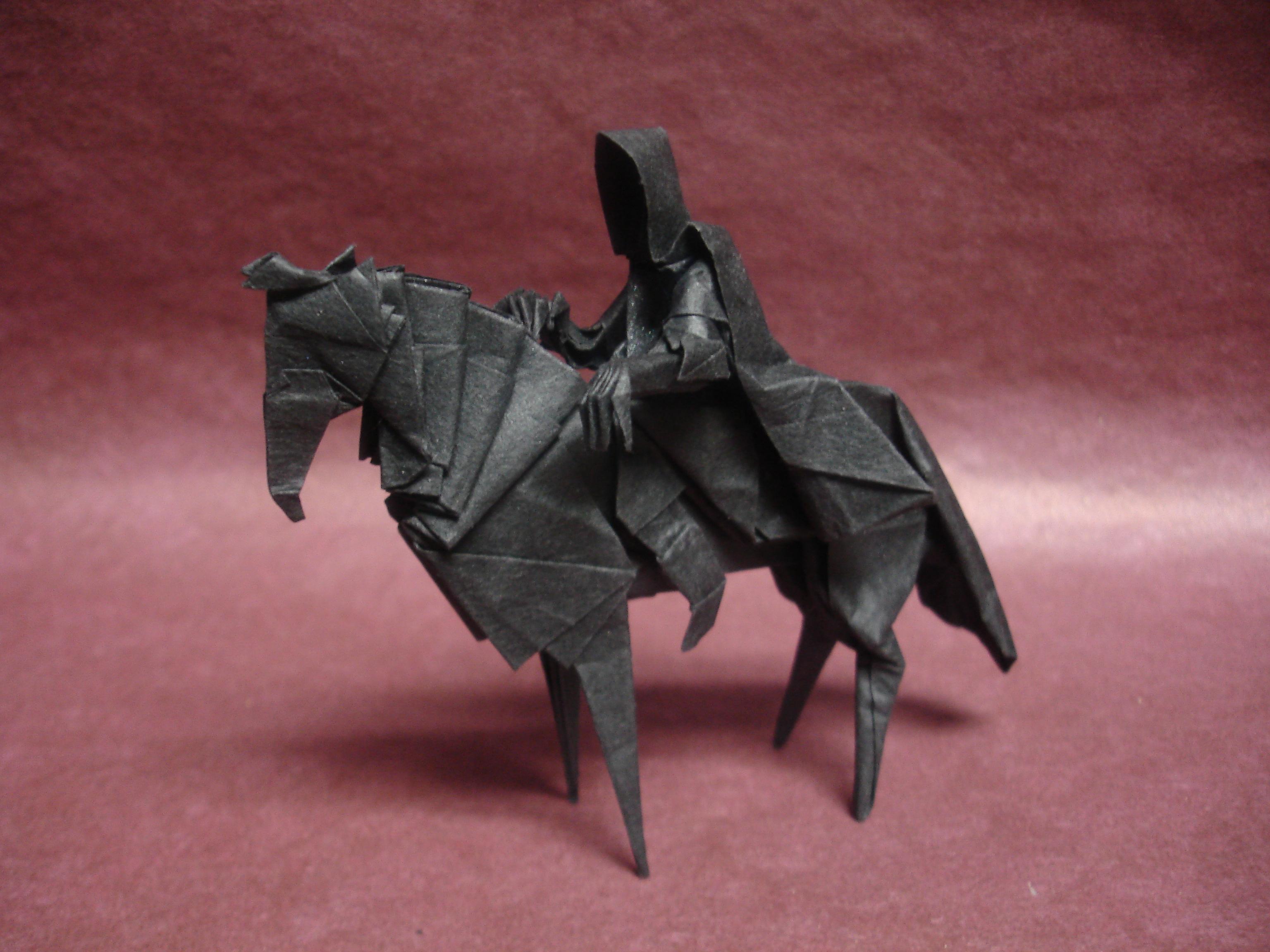 Horse Rings Origami Paper Jason Craft ART Rider Fold Art Lord Ku Nazgul Creative Arts