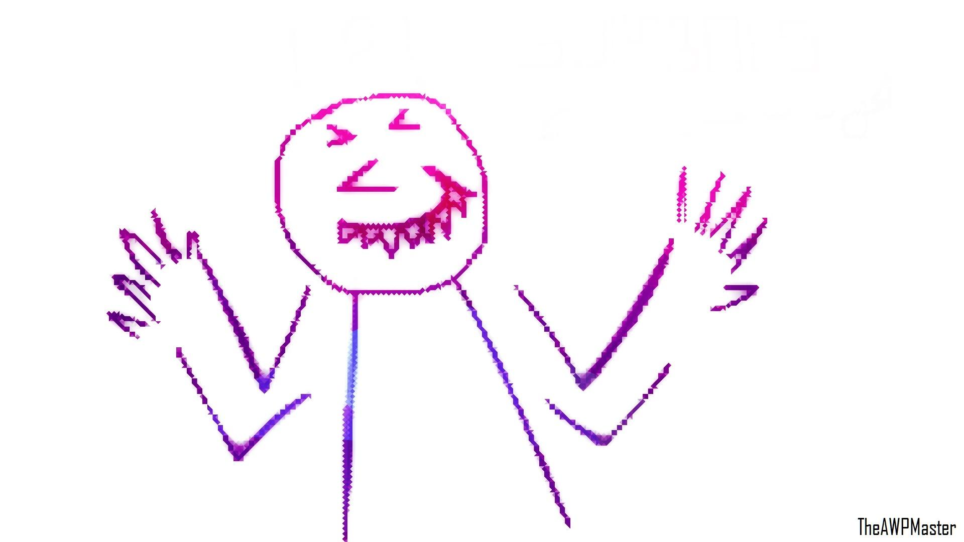 Fond D écran Humour Visage Pixel Art 1920x1080