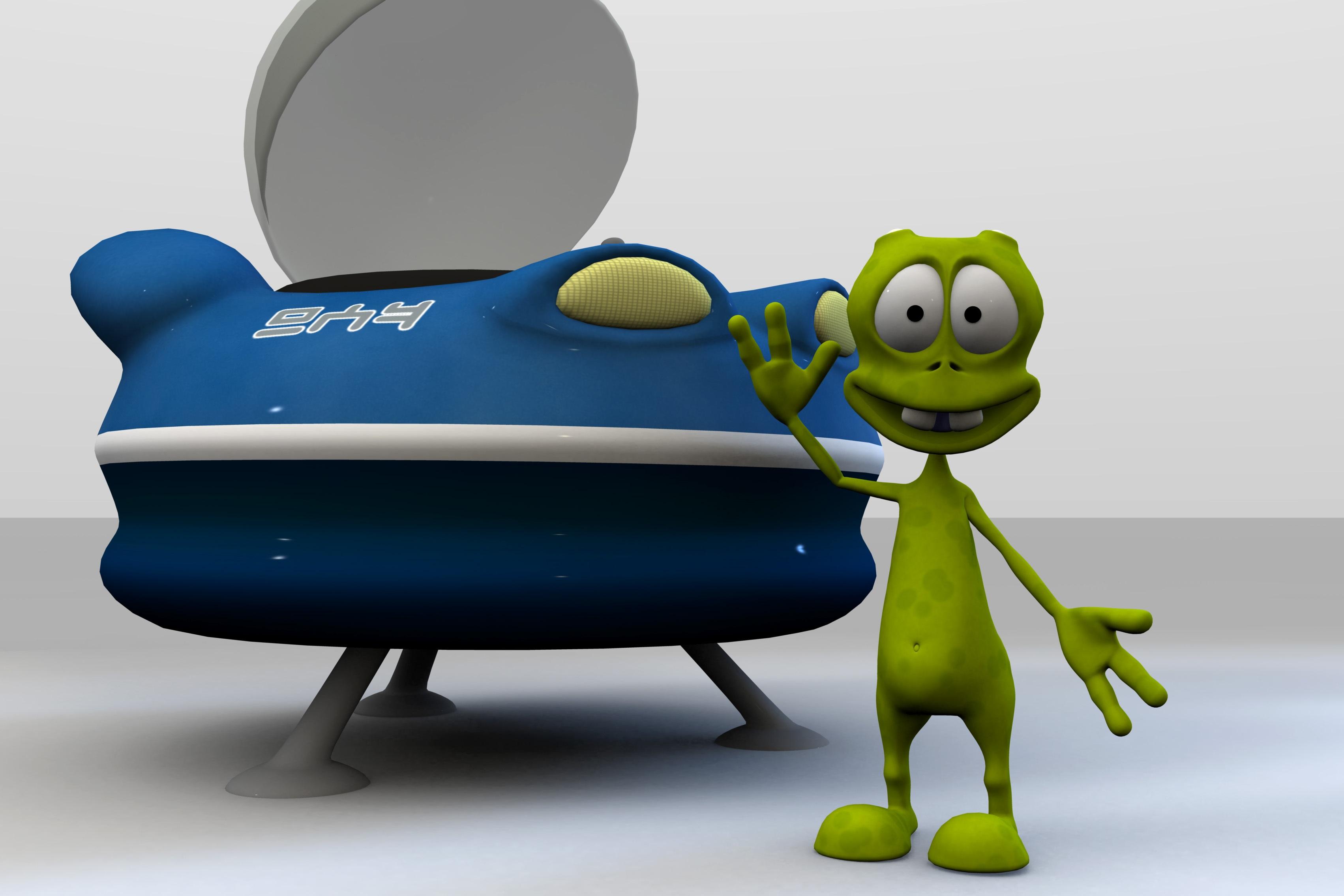 Sfondi illustrazione d cartone animato rana anfibio