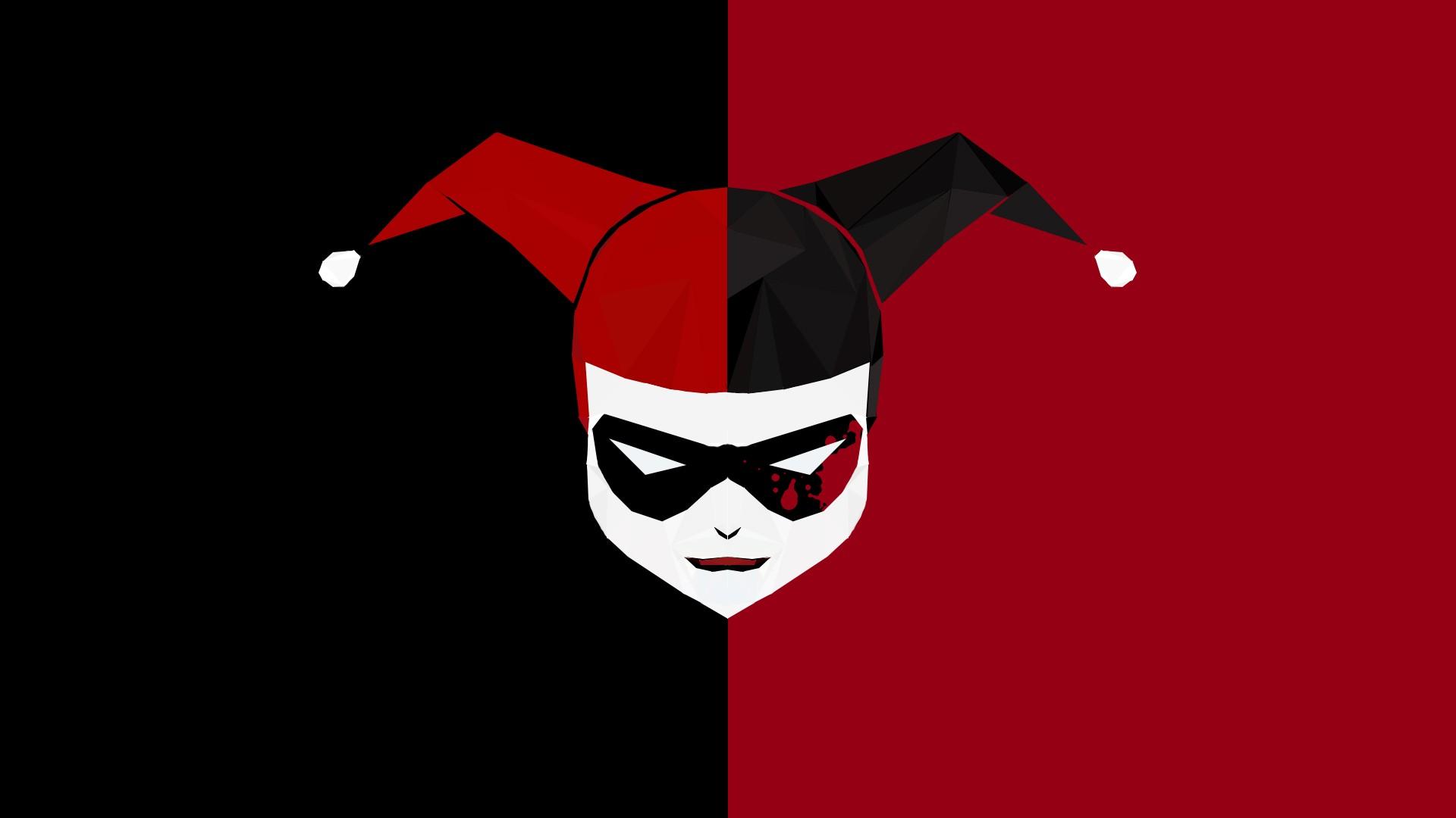 Wallpaper Illustration Joker Harley Quinn Poly Batman The