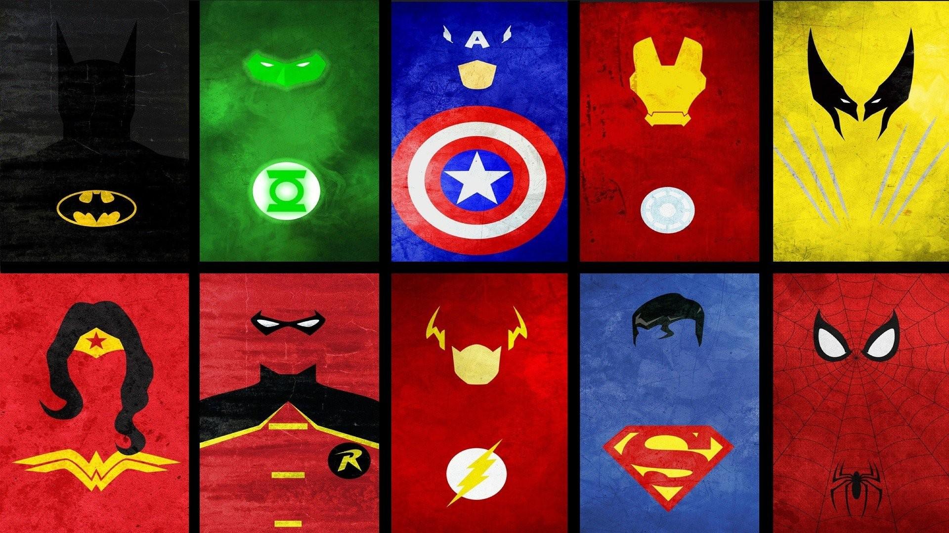 Wallpaper Illustration Batman Wolverine Marvel Comics Iron Man