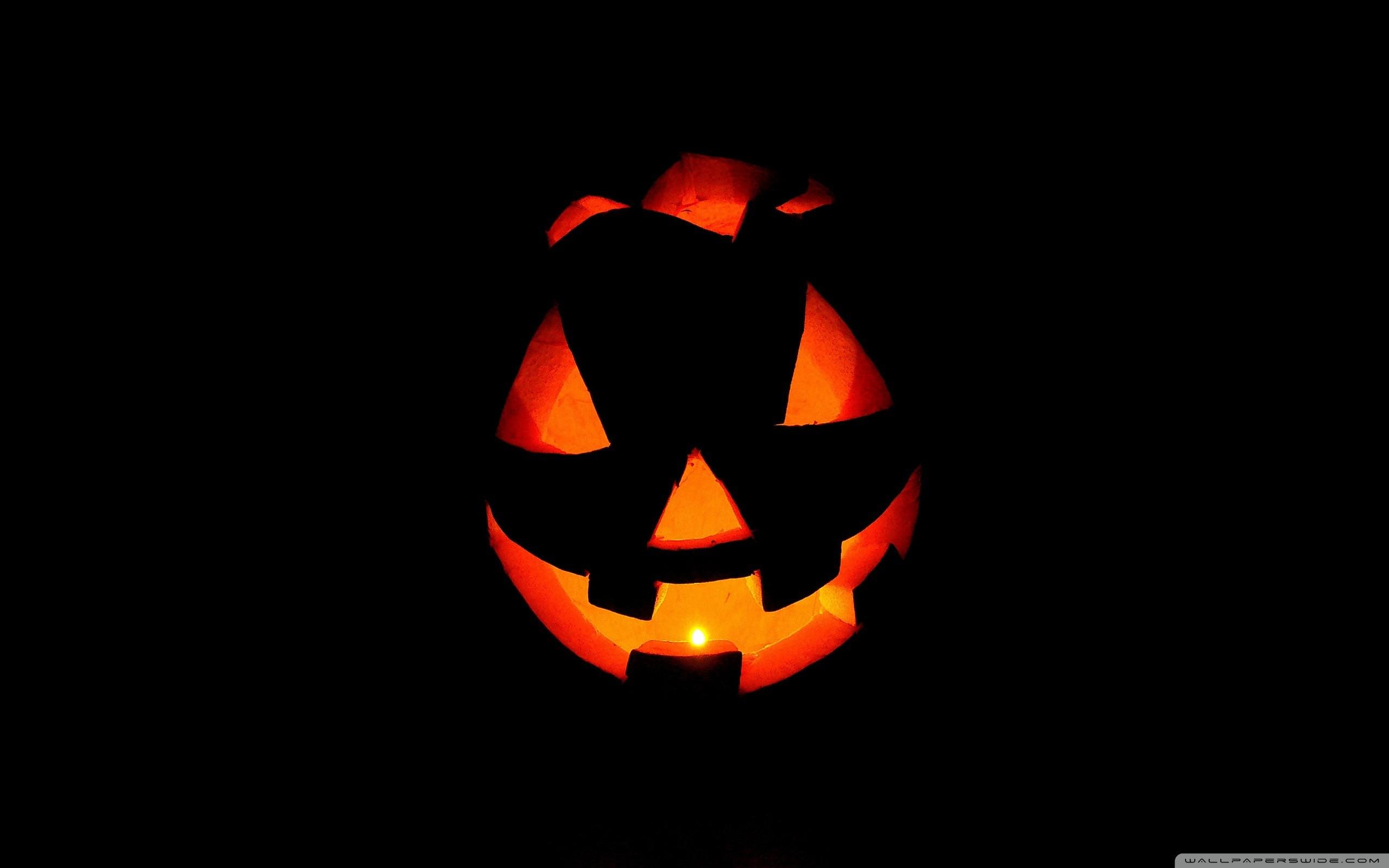 Wallpaper Halloween Scary Room Jack O Lantern Pumpkin Halloween