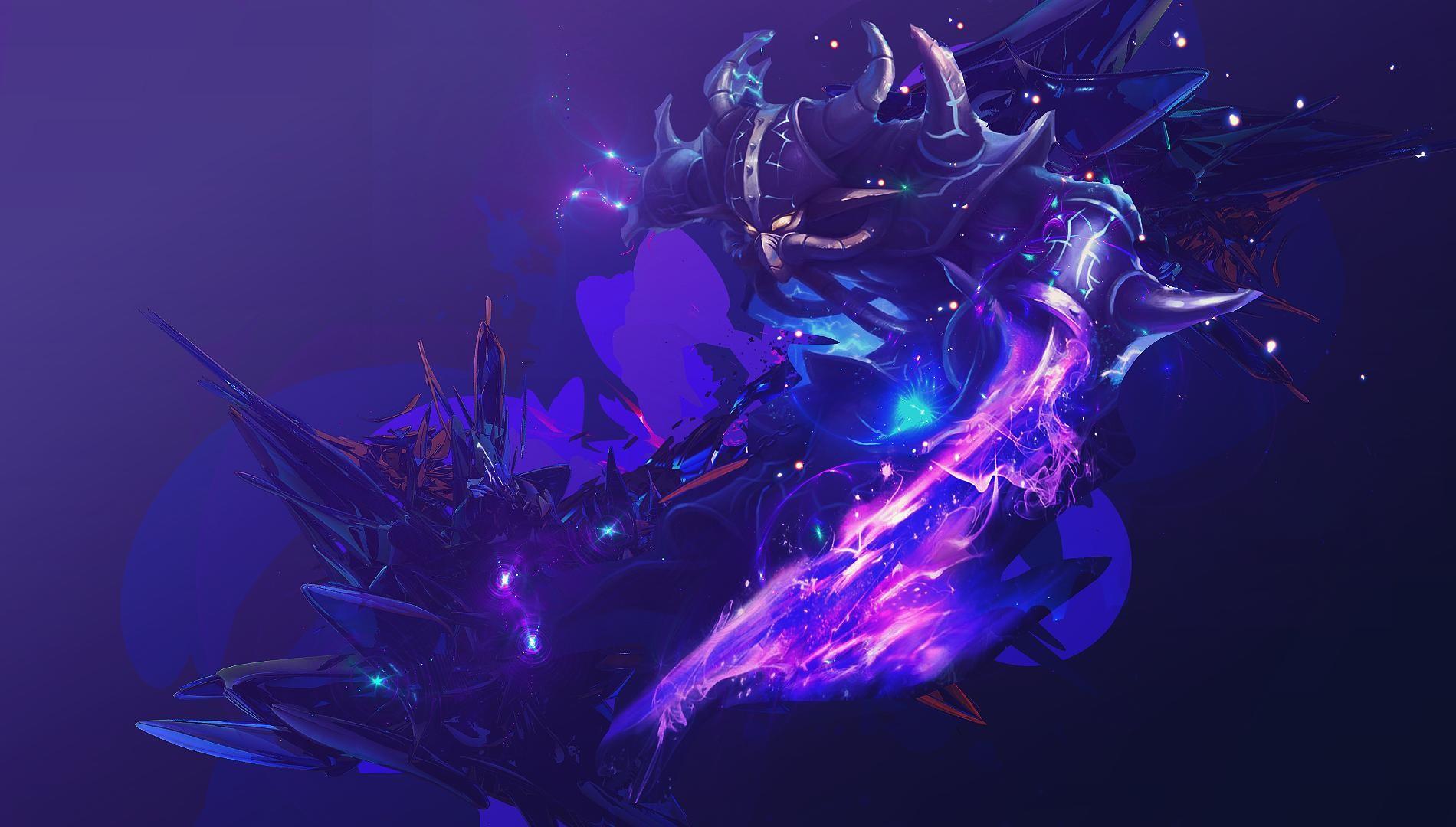 Wallpaper Illustration League Of Legends Blue Biology