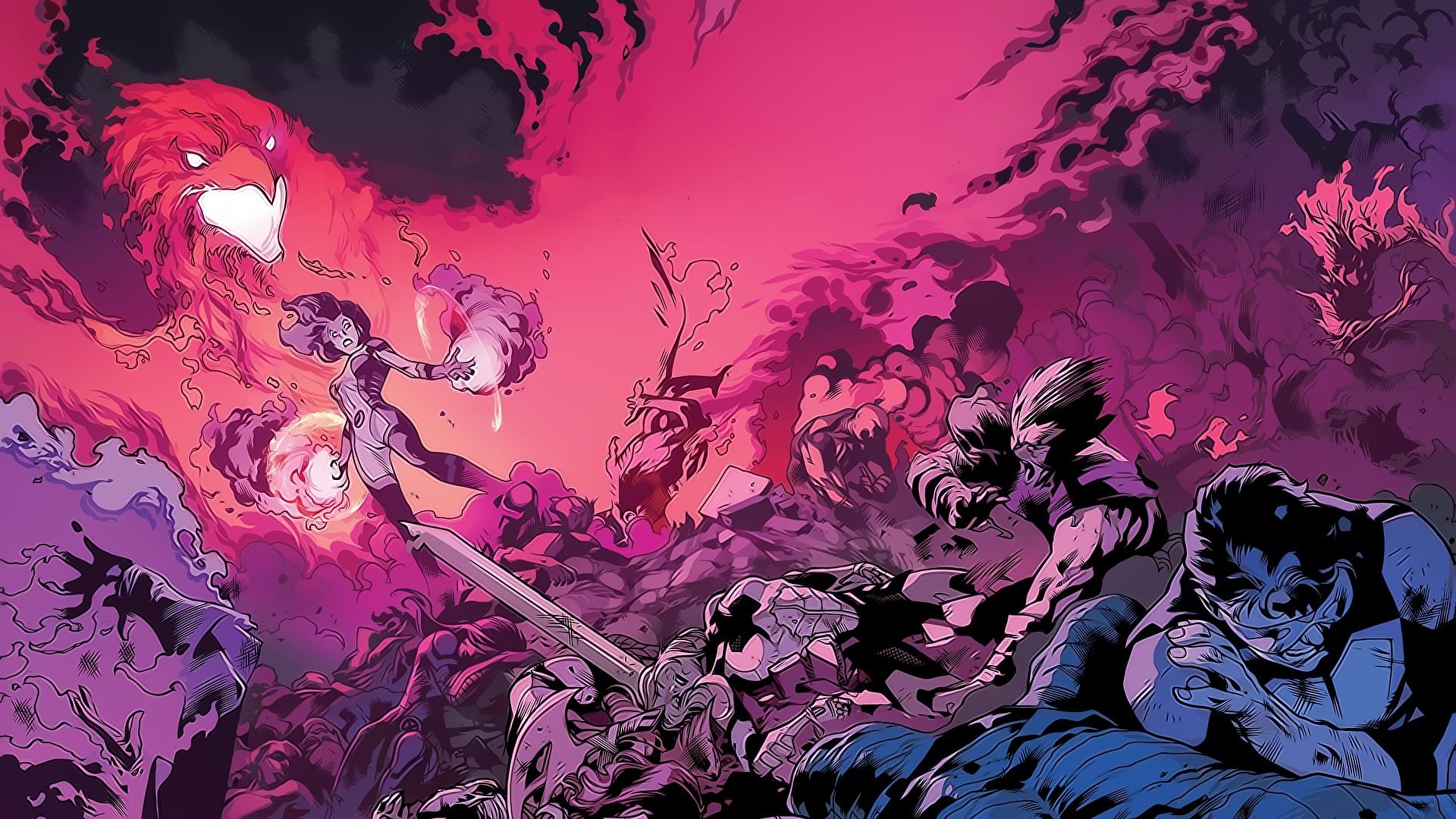 Illustration Marvel Comics X Men Comic Books Jean Grey Cyclops Dark Phoenix Screenshot Computer Wallpaper Geological