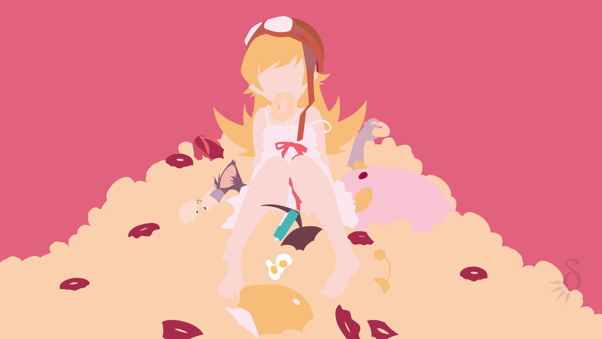 デスクトップ壁紙 図 物語シリーズ アニメの女の子 忍野忍 漫画