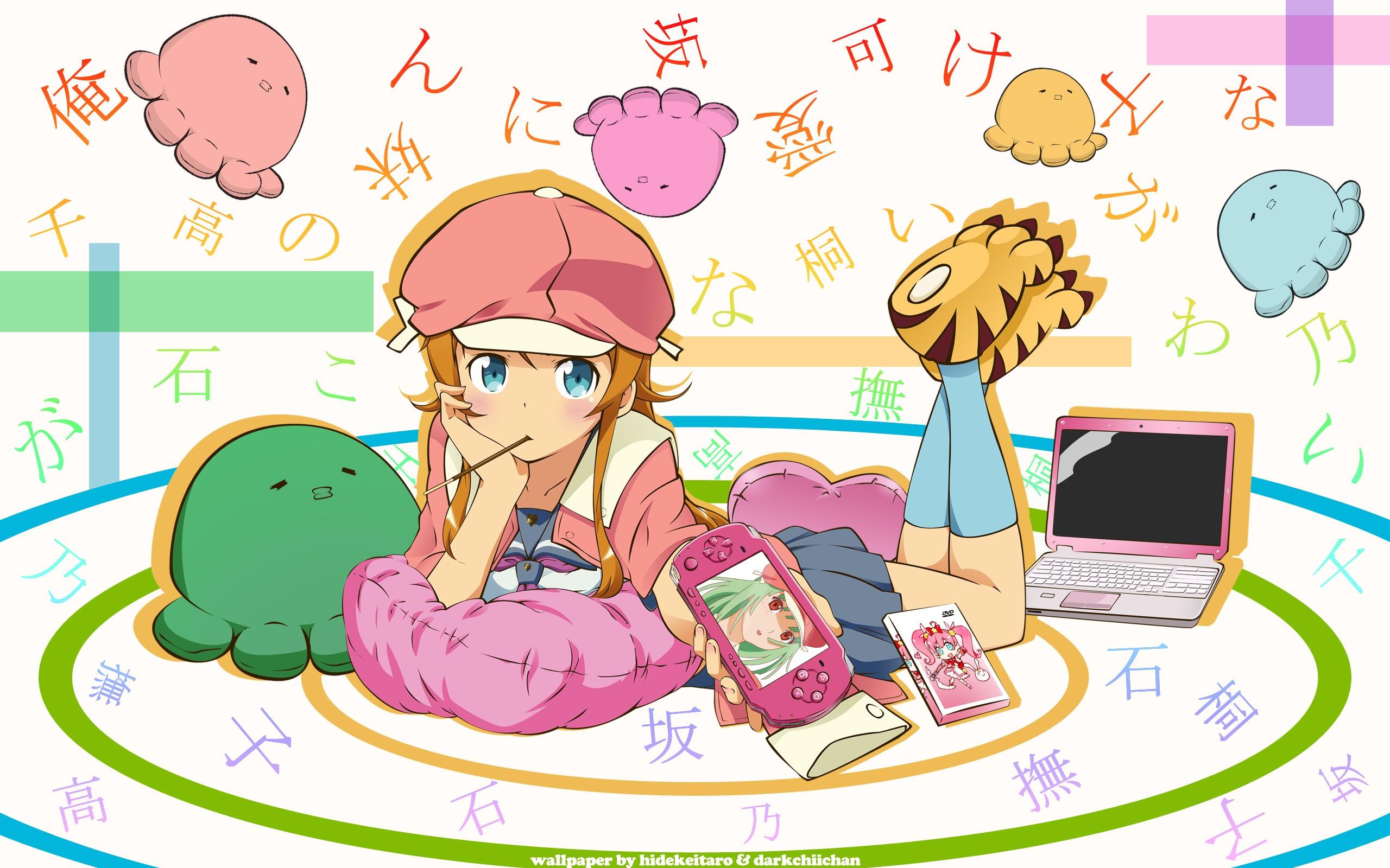 Wallpaper Ilustrasi Monogatari Series Gadis Anime Gambar Kartun