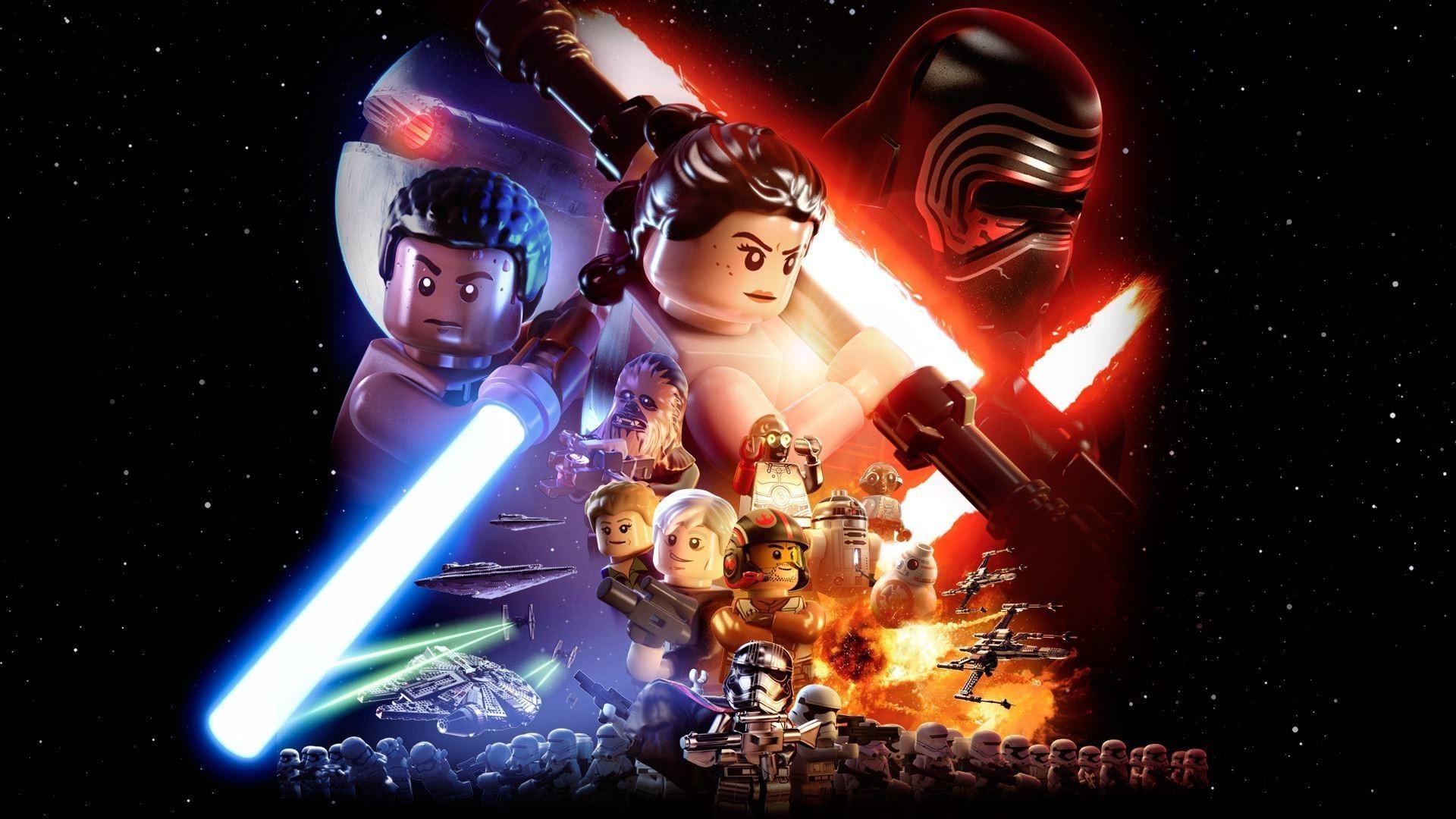 Wallpaper Illustration Star Wars Lego Star Wars The Force