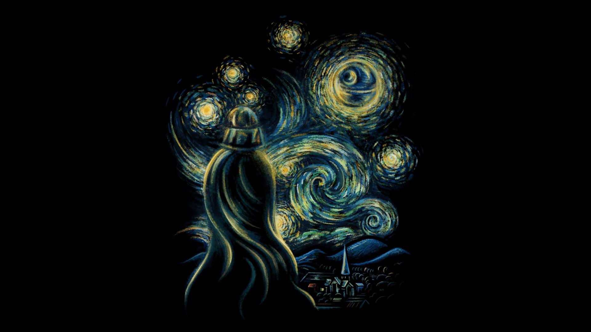 Fond Décran Illustration Guerres Des étoiles Fond Noir