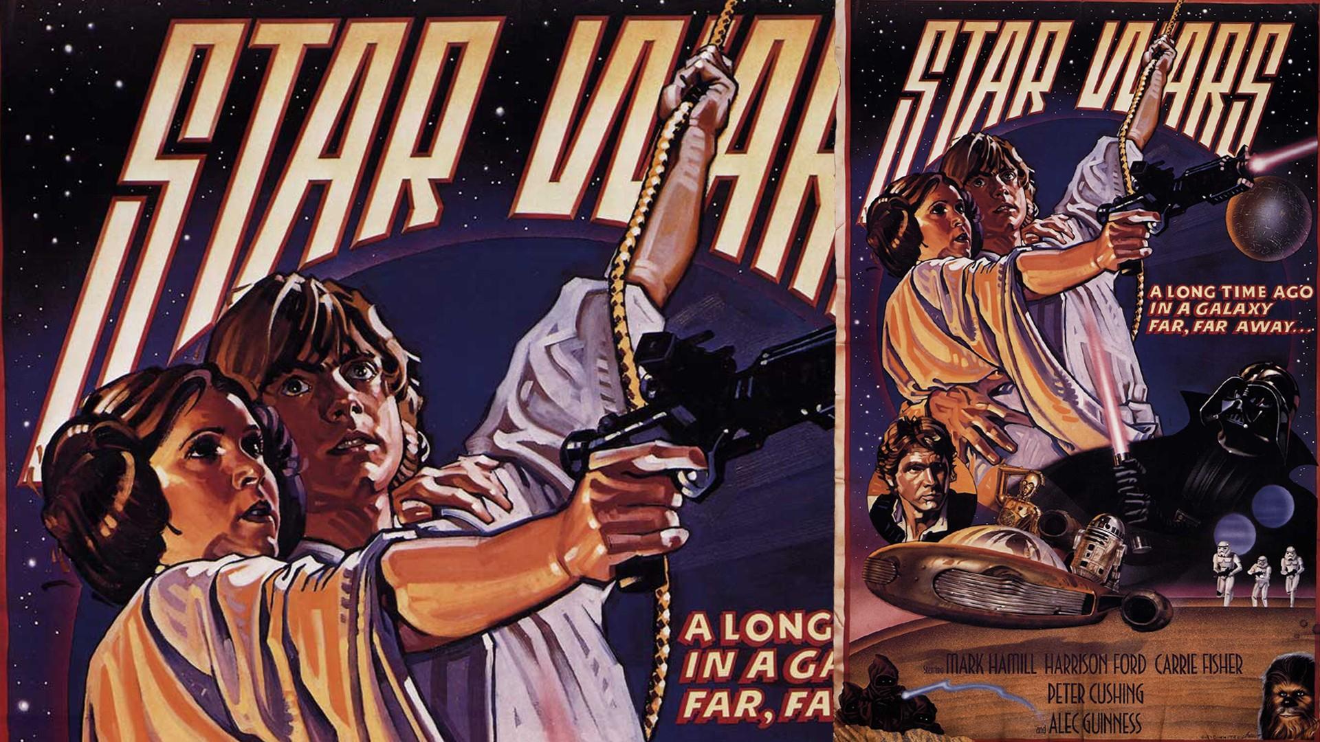 Illustration Star Wars Collage Movies Film Posters Comics Poster Luke Skywalker Leia Organa Episode