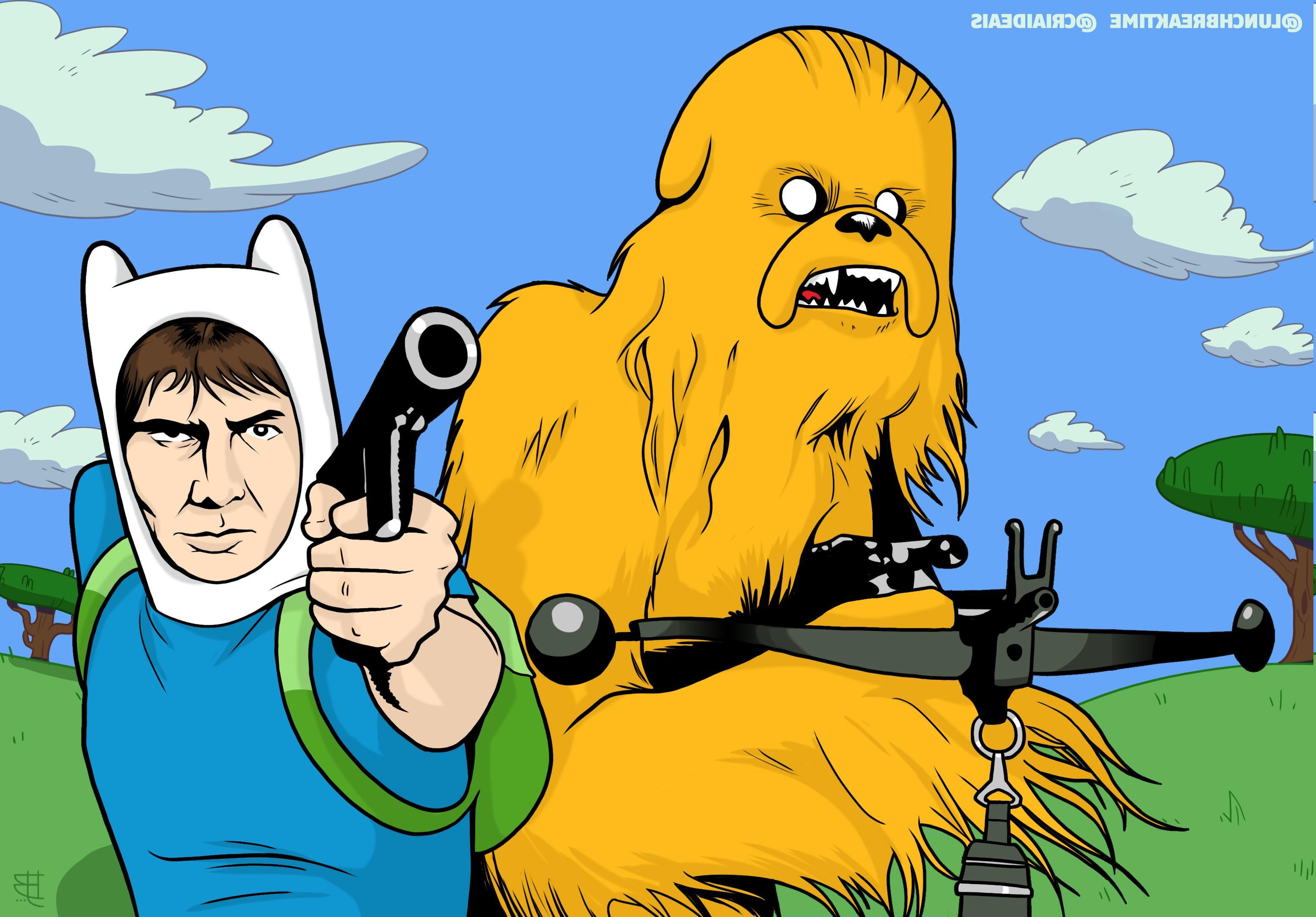 Wallpaper : illustration, Star Wars, grass, crossover, yellow ...