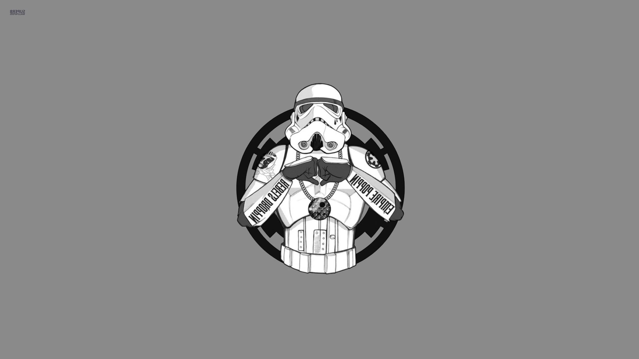 Wallpaper Illustration Star Wars Monochrome Humor Logo