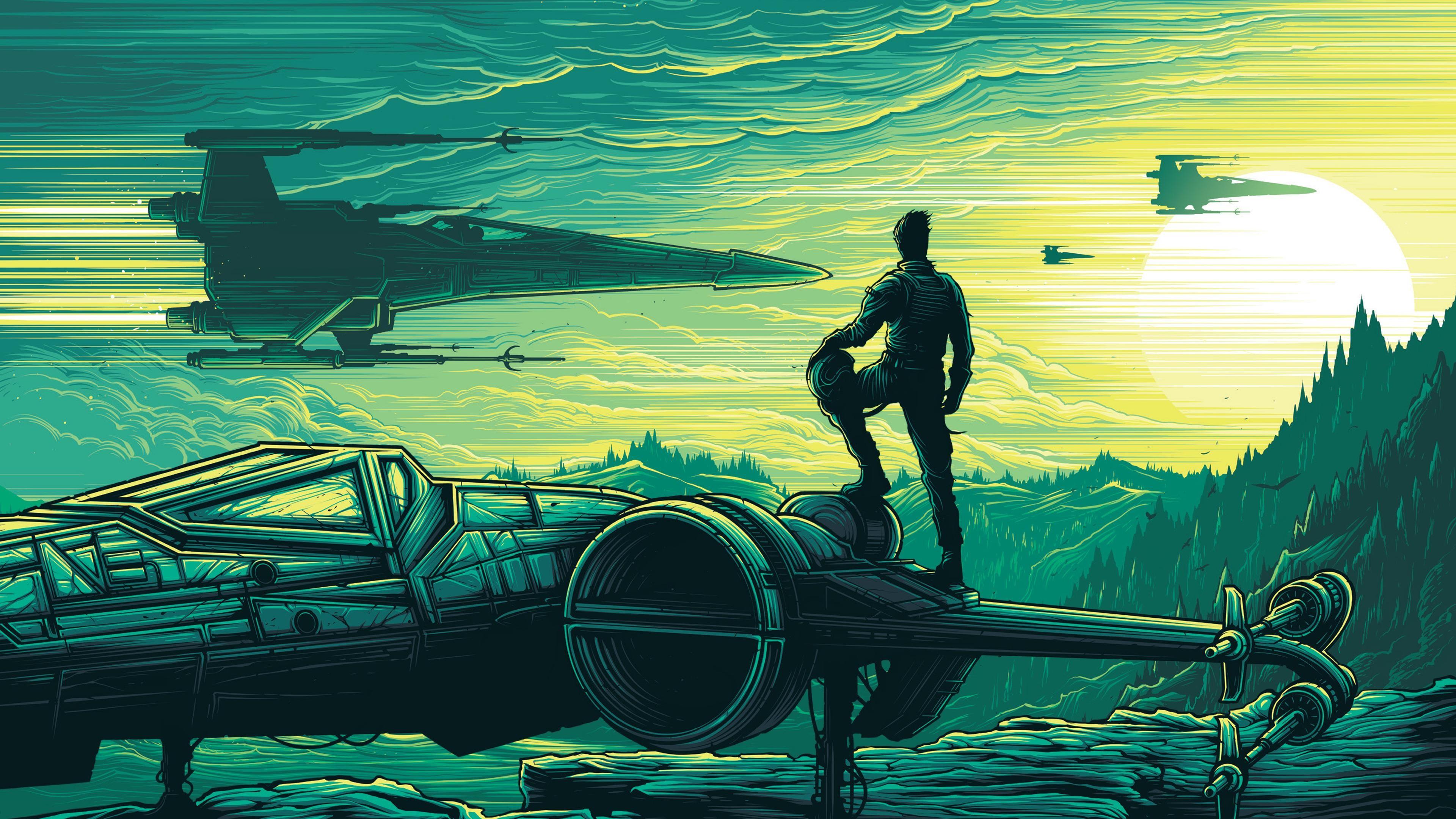 Wallpaper illustration star wars vehicle star wars - Star wars the force awakens desktop wallpaper ...