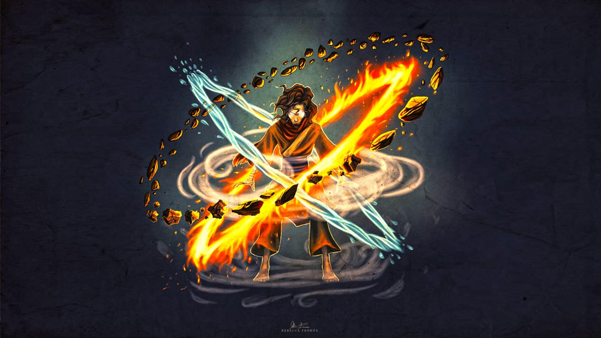 Wallpaper Illustration The Legend Of Korra Avatar Wan Light