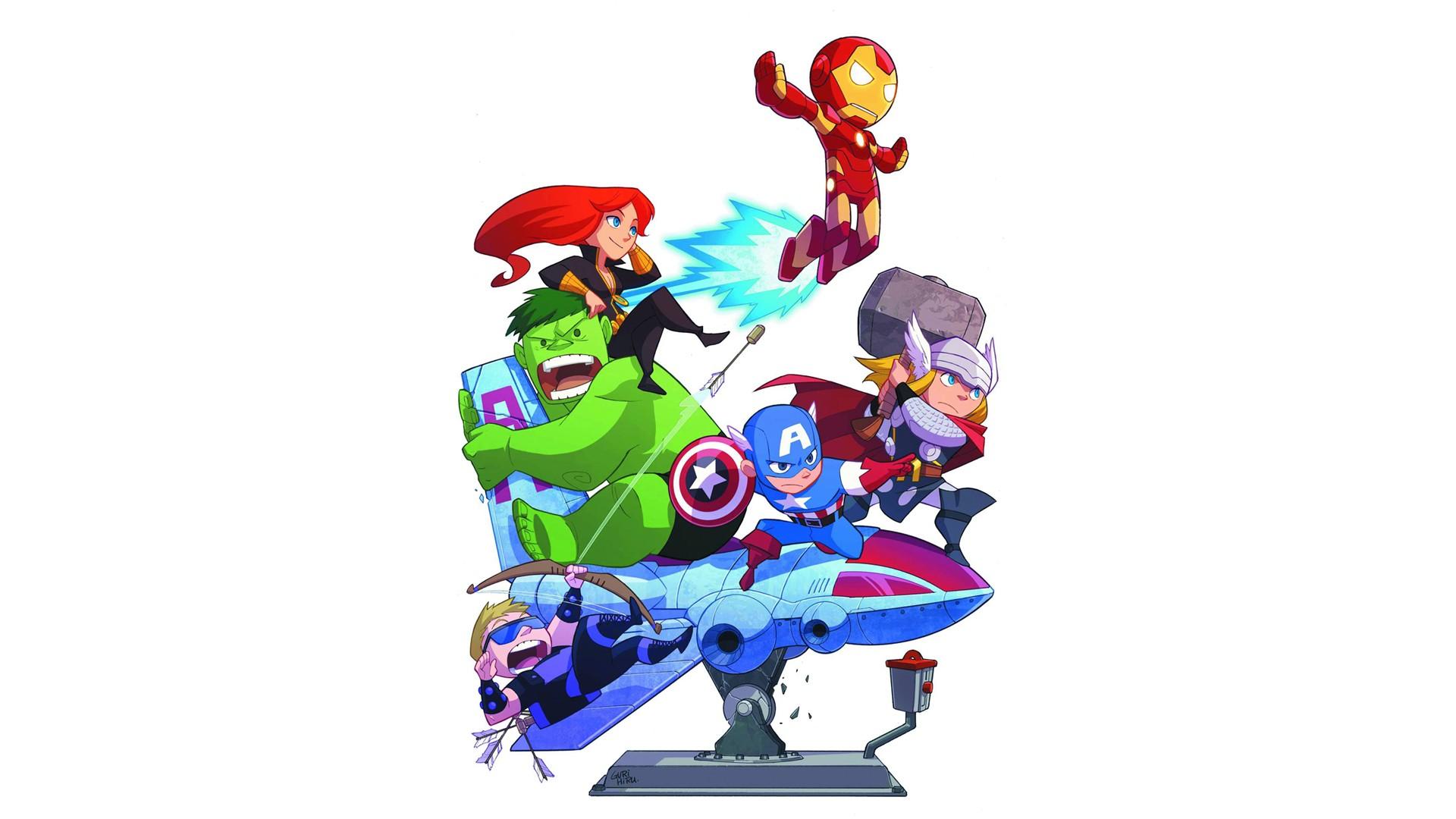 Papel De Parede Ilustracao Thor Desenho Animado Homem De