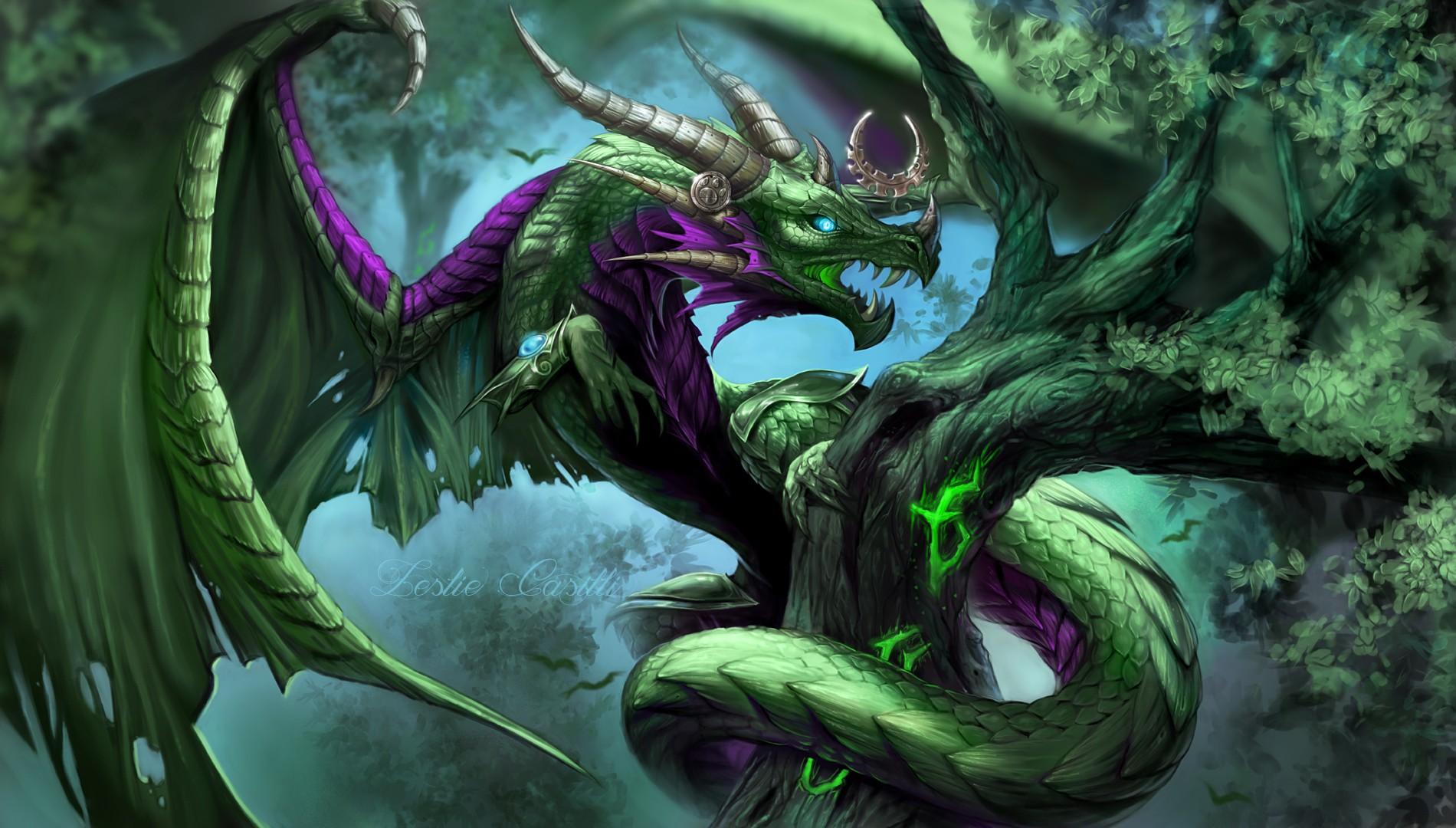 Wallpaper : illustration, World of Warcraft, dragon