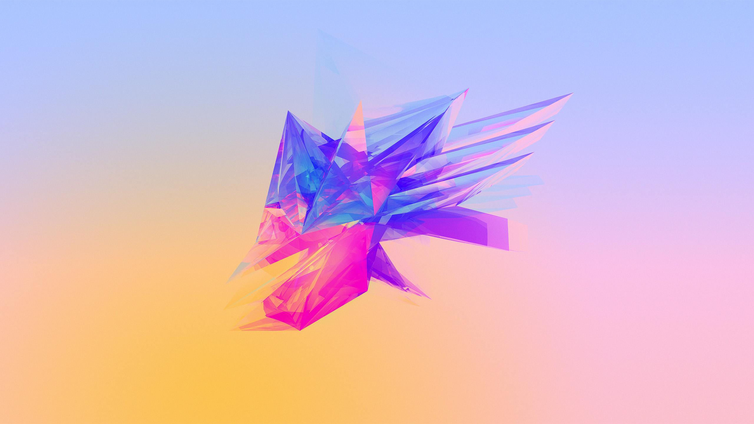 Wallpaper Illustration Abstract Purple Blue Gradient