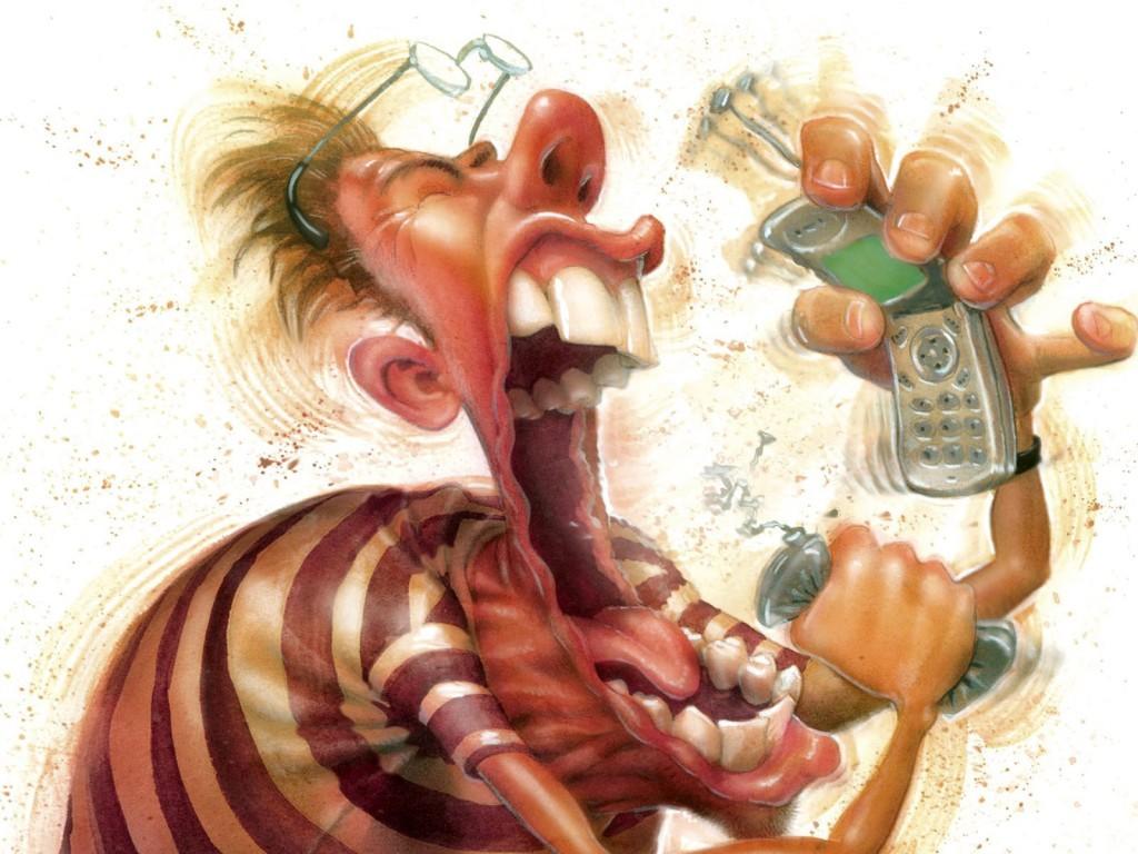 Смешные рисунки на телефонах