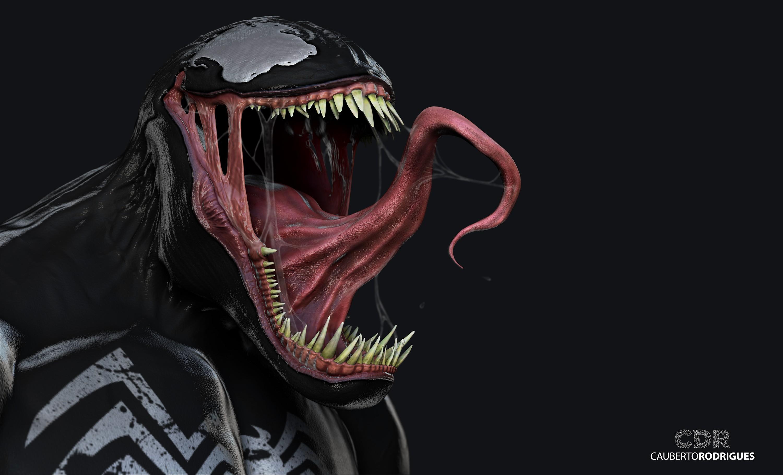 illustration anime 3D Venom head darkness screenshot computer wallpaper