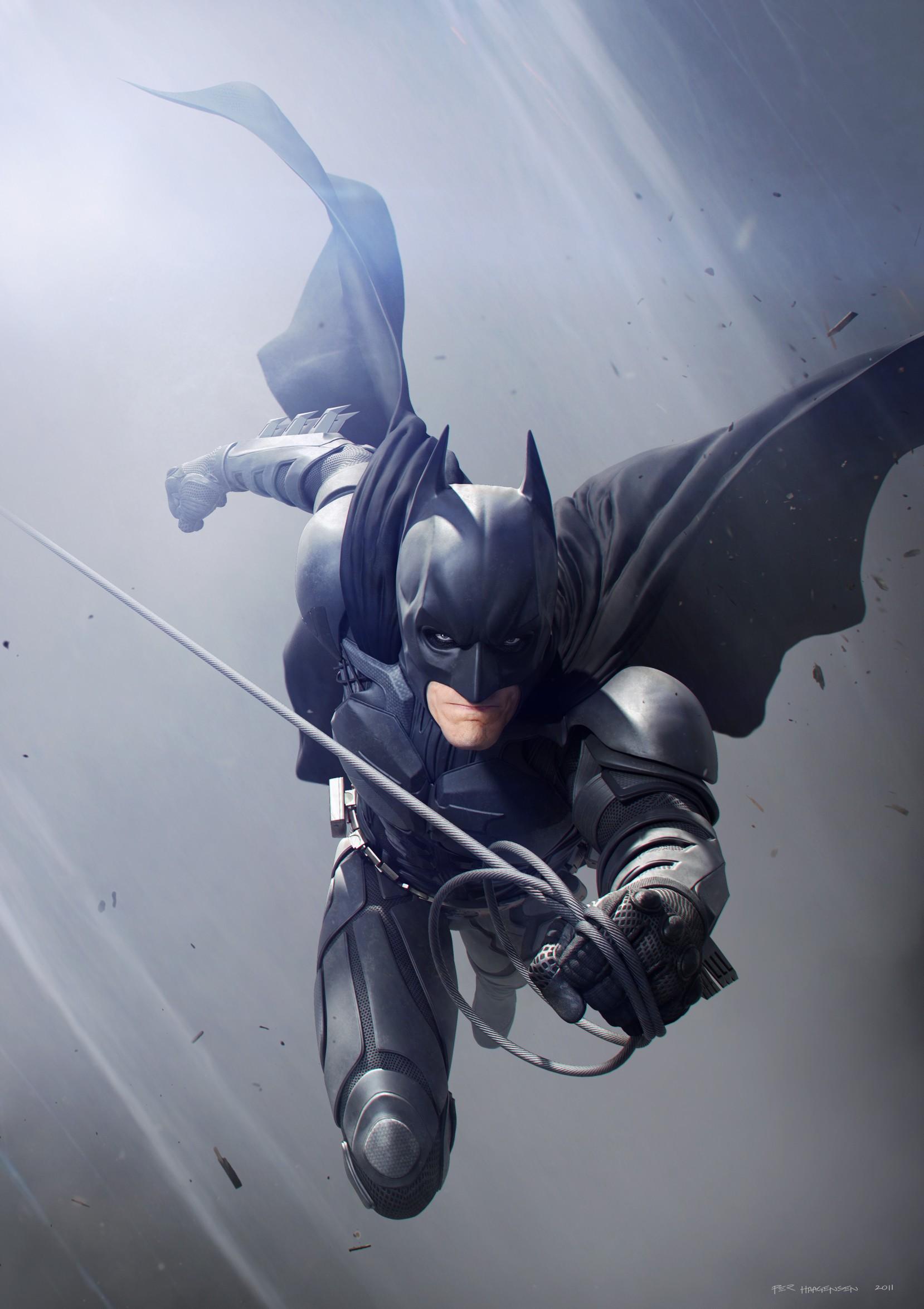 anime, 3D, mask, Batman, superhero