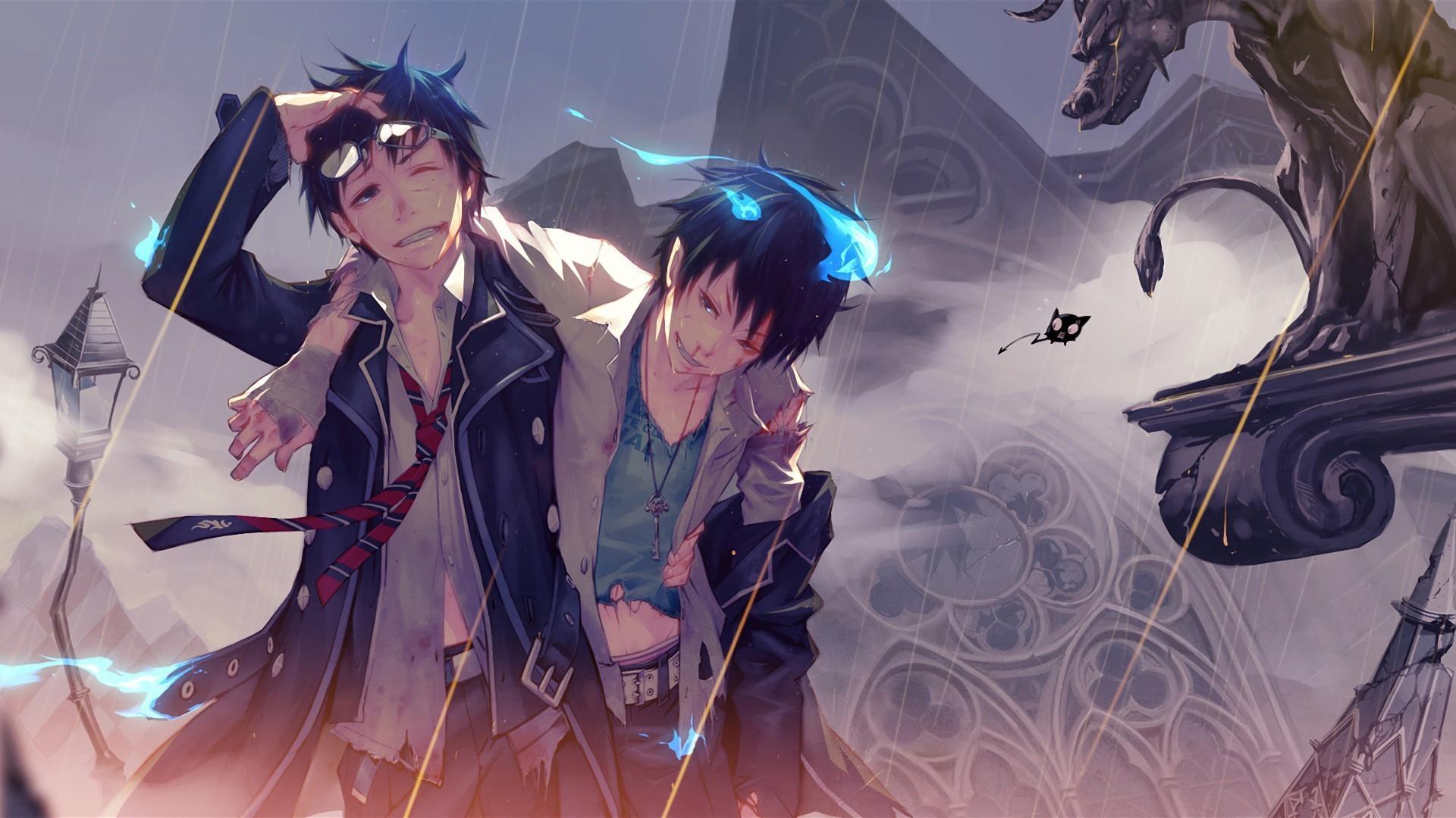 Fondos De Pantalla Ilustración Anime Exorcista Azul