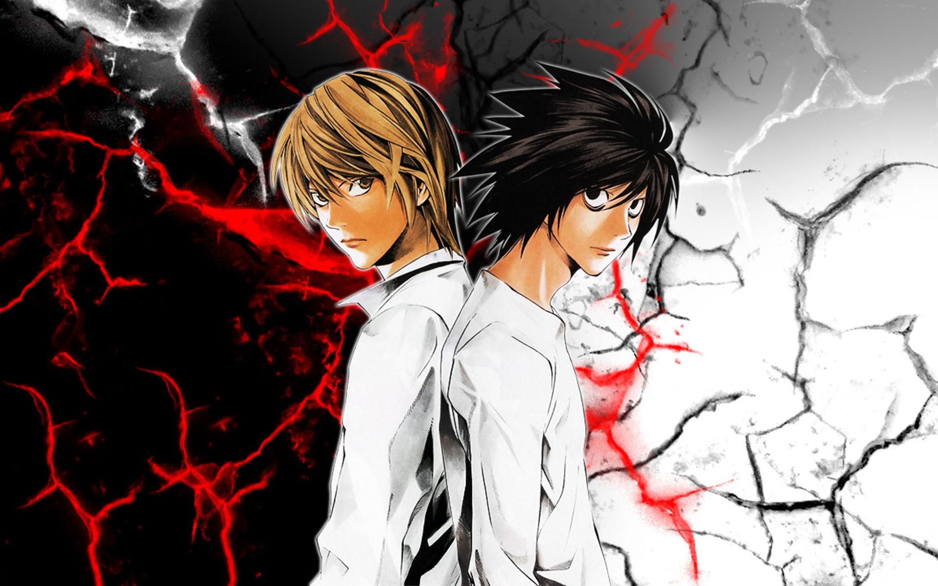 Wallpaper Illustration Anime Death Note Yagami Light Cracked
