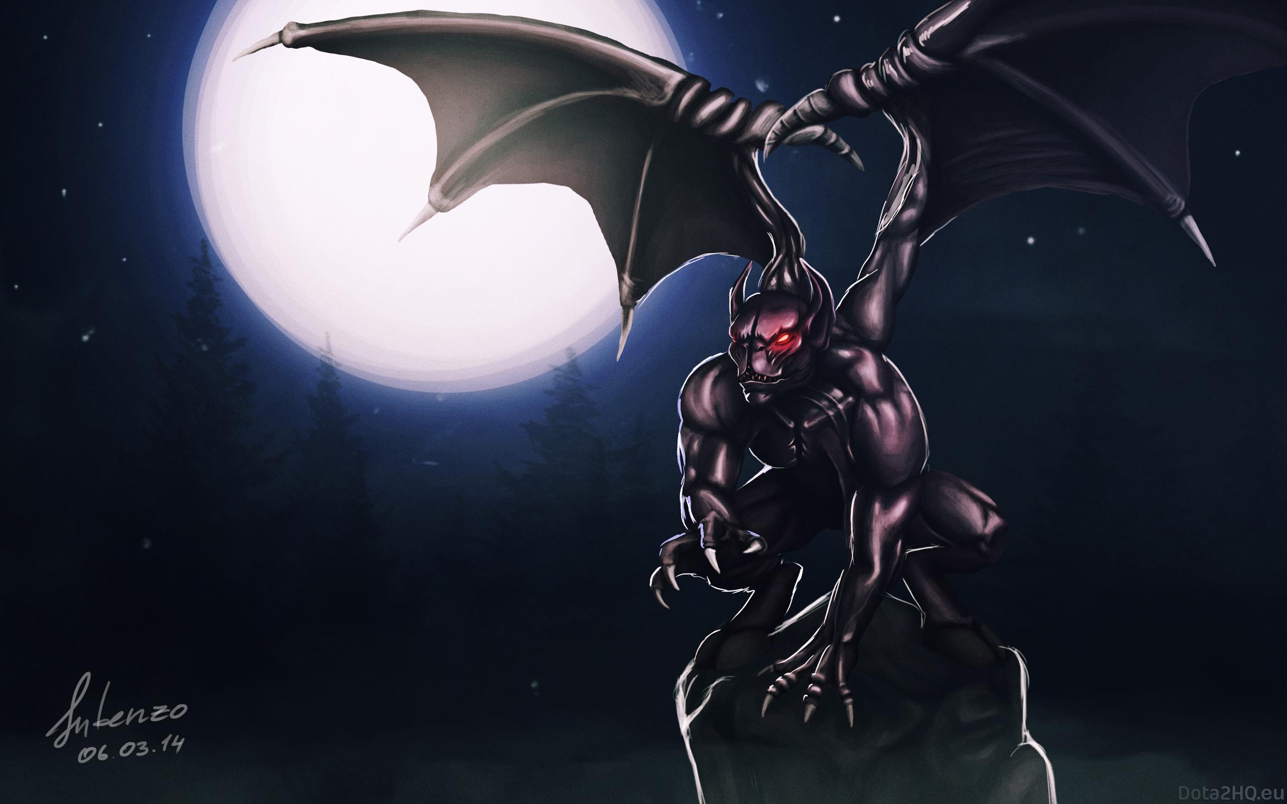 Wallpaper Illustration Anime Dota 2 Art Darkness