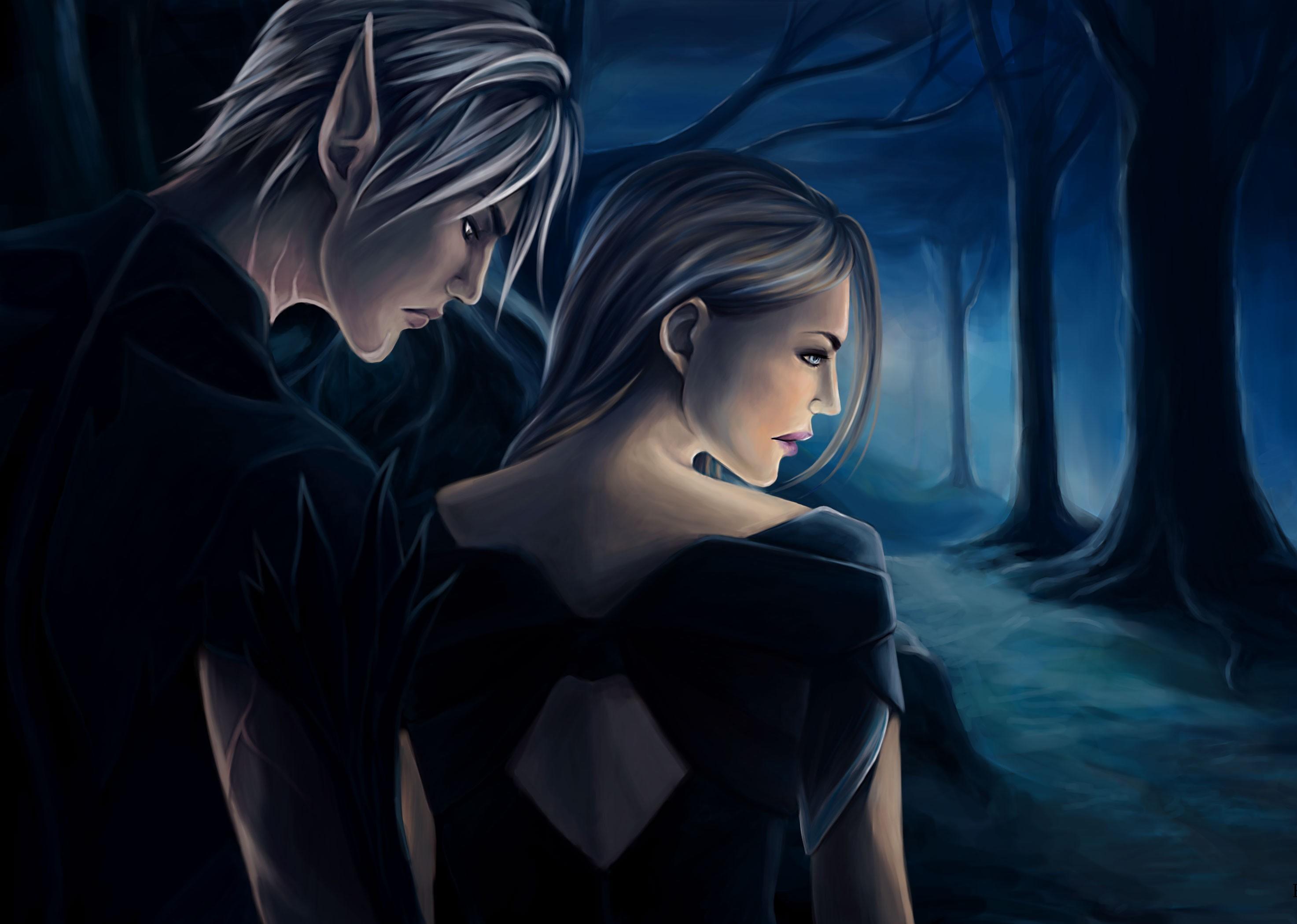 Wallpaper Illustration Anime Dragon Age Midnight Hawke