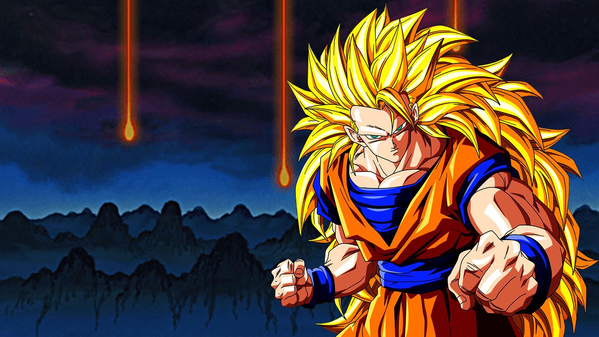 hình minh họa Anime Ngọc rồng Son Goku bảy viên ngọc rông Super Saiyan 3 Ảnh