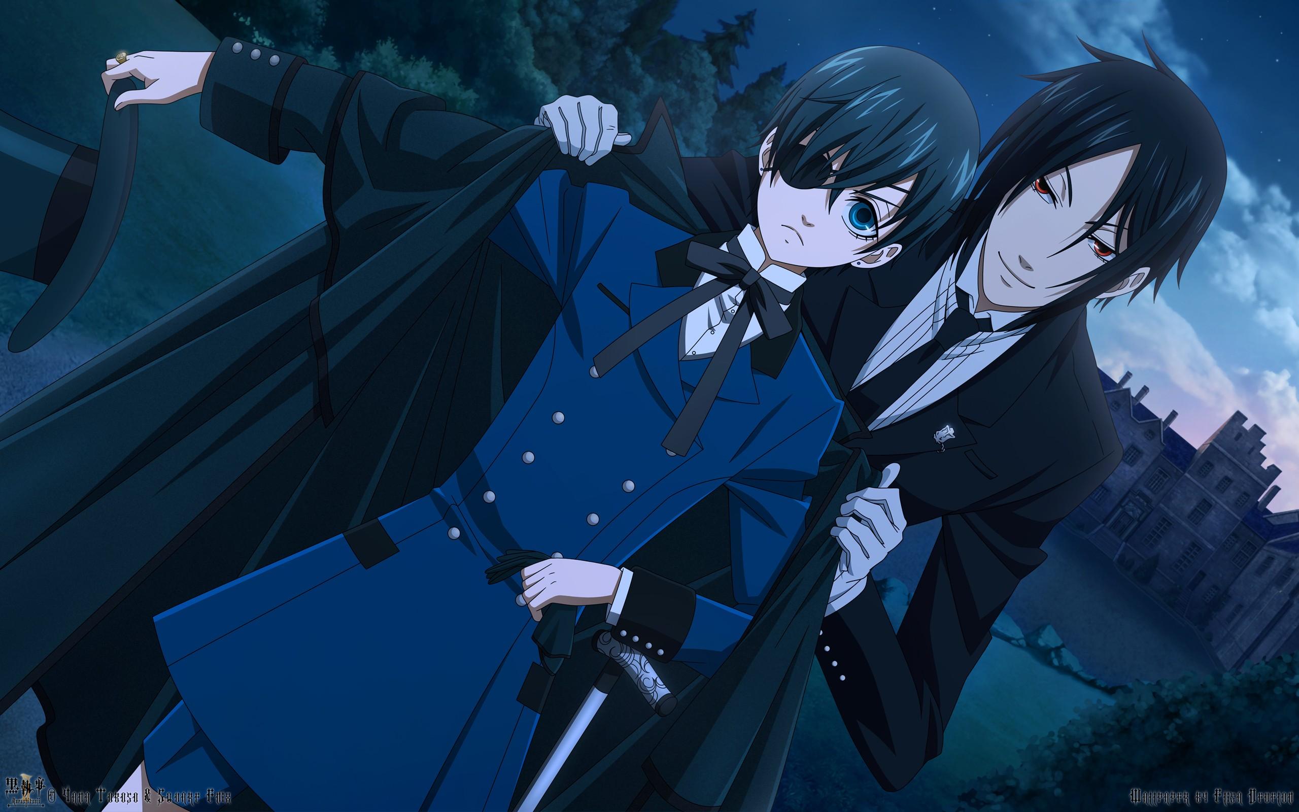 Illustration Anime Kuroshitsuji Michaelis Sebastian Ciel Phantomhive Black Butler Screenshot Mangaka