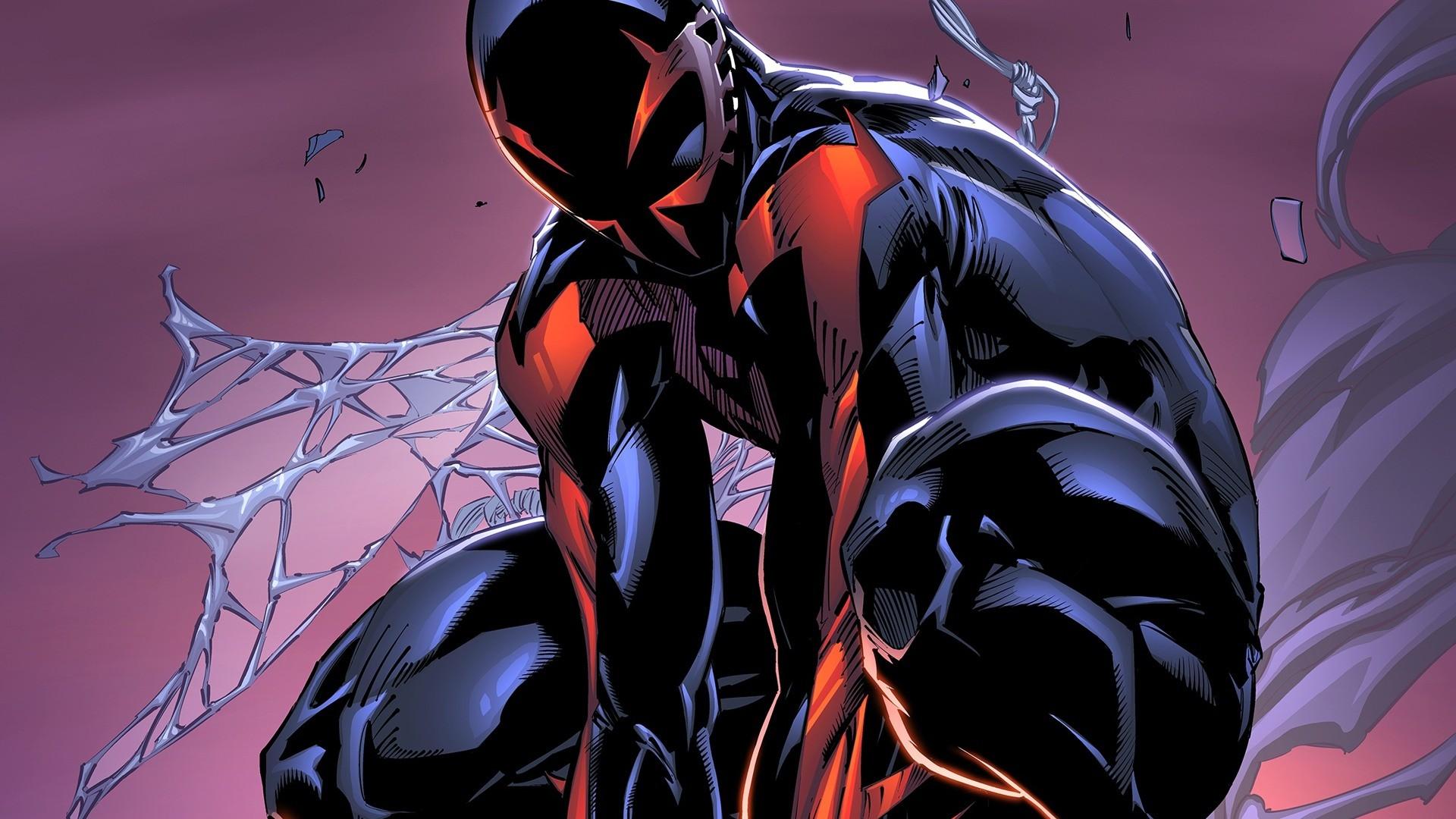 Spider Man 2099 Wallpaper On Wallpaperget Com: デスクトップ壁紙 : 図, アニメ, マーベルコミックス, 漫画, スパイダーマン2099, スクリーンショット