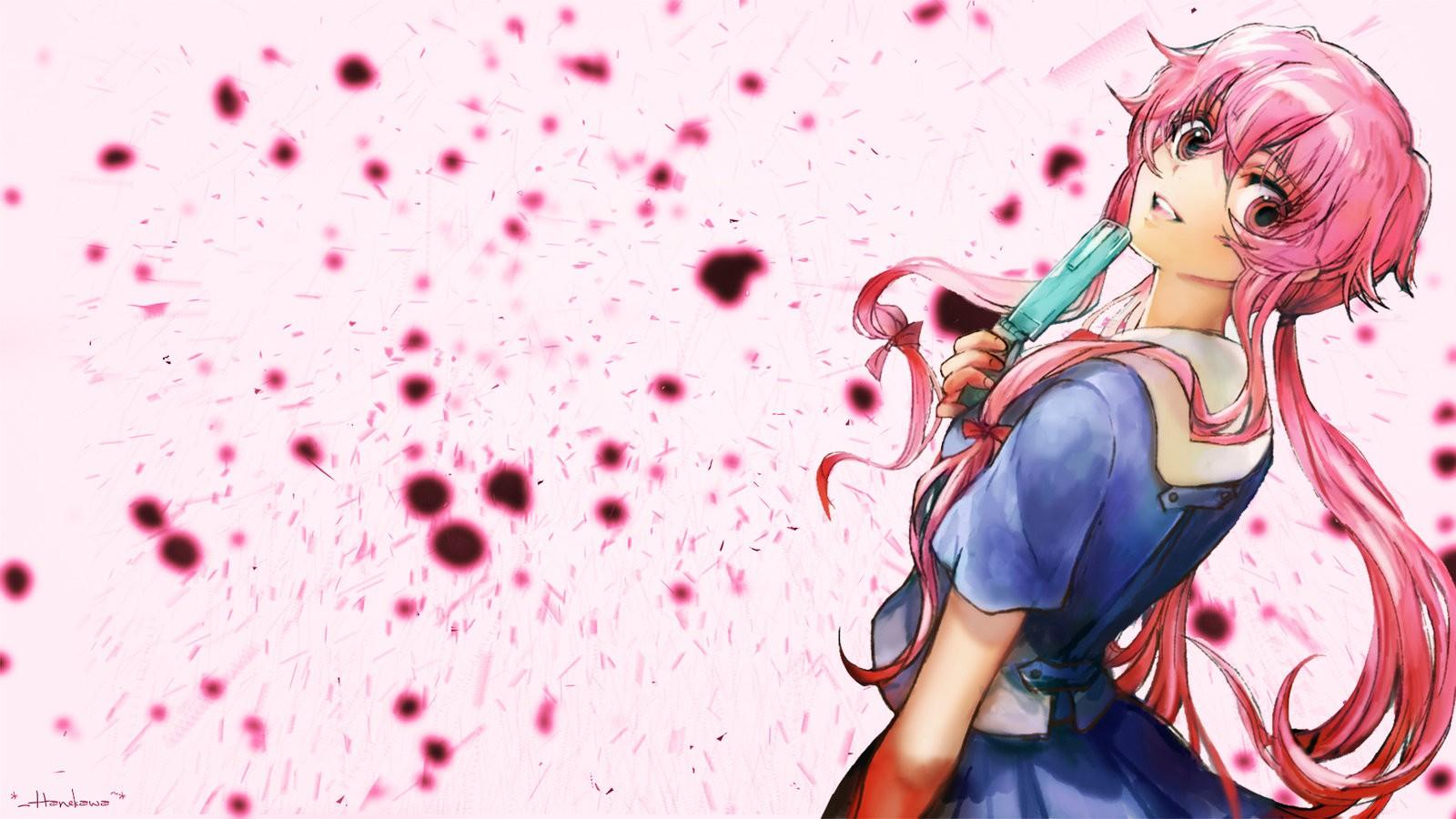 Wallpaper Illustration Anime Mirai Nikki Gasai Yuno Yandere Computer Wallpaper 1600x900 Phoenixblood 173118 Hd Wallpapers Wallhere